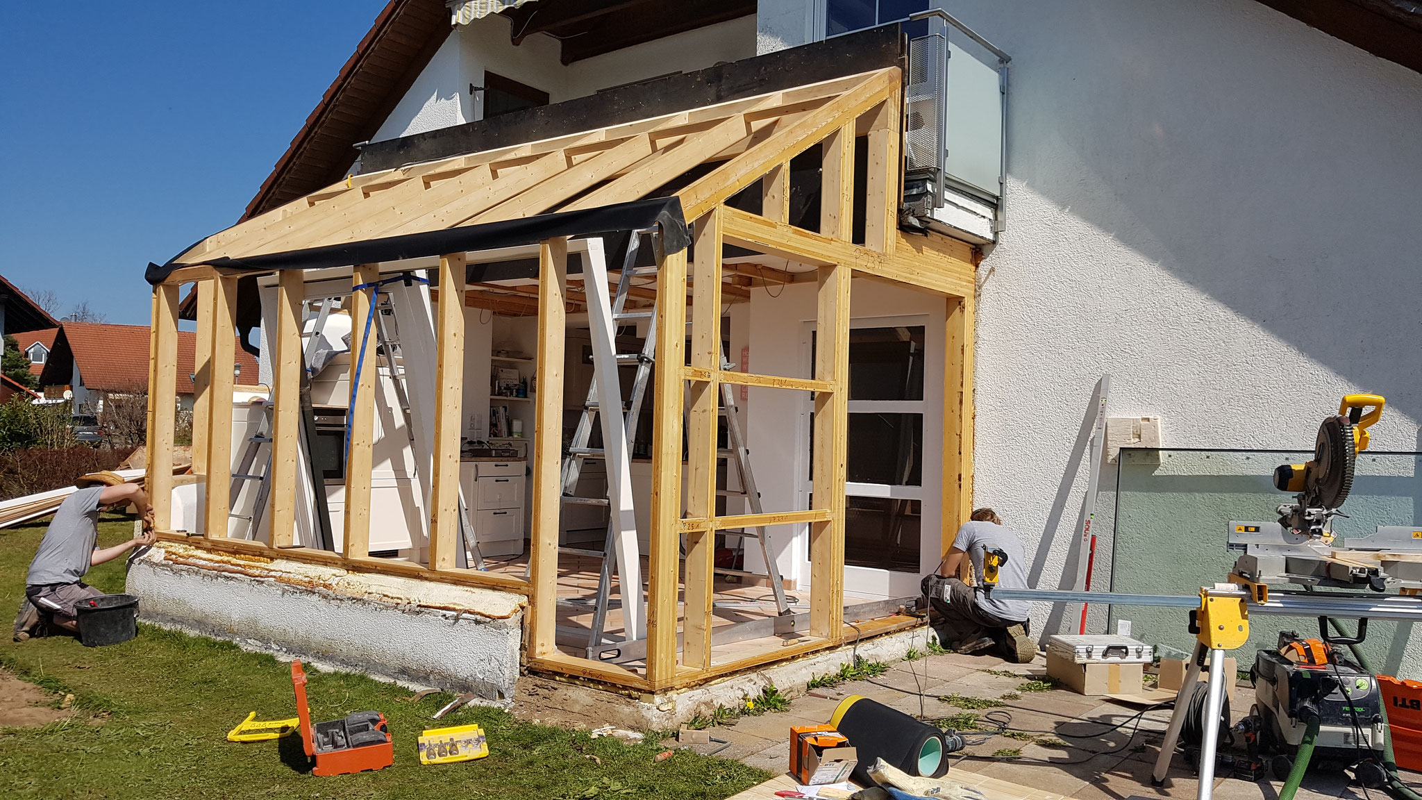 Neuaufbau Holzkonstruktion