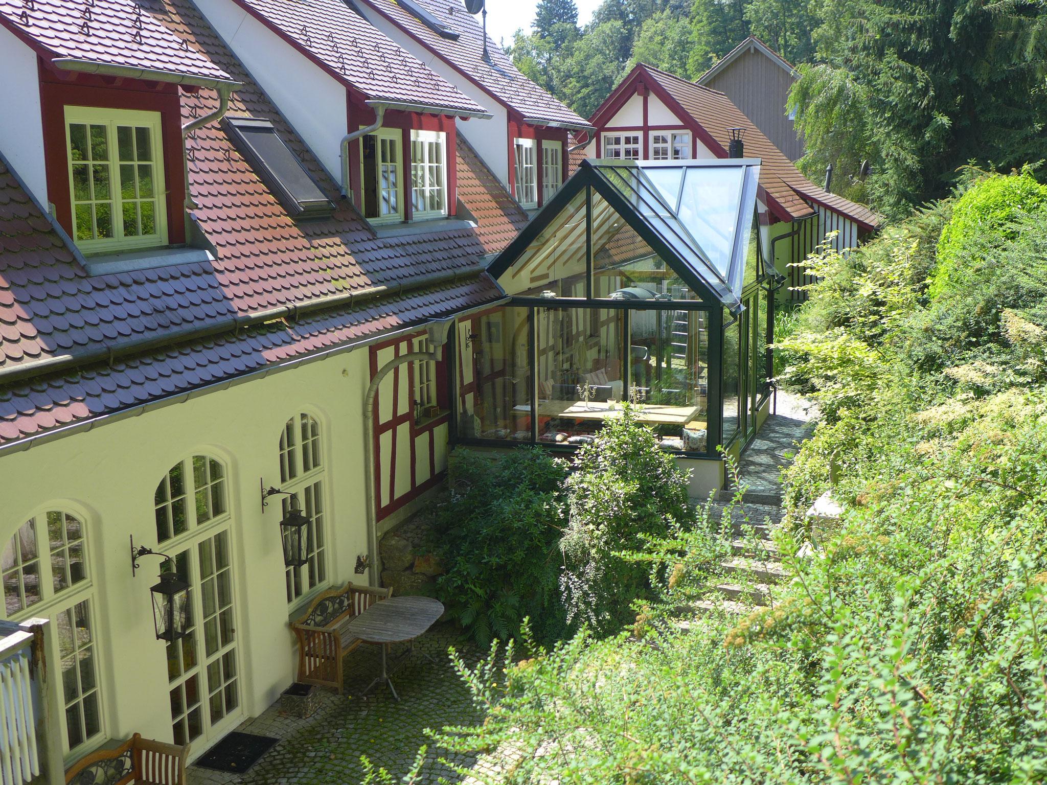 idyllischer Wintergarten