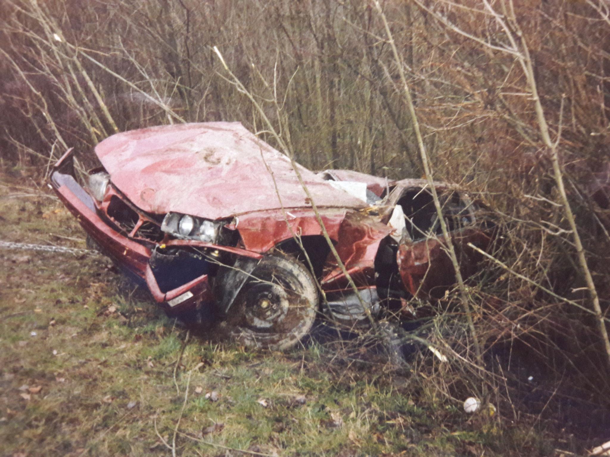 Der erste PKW-Unfall
