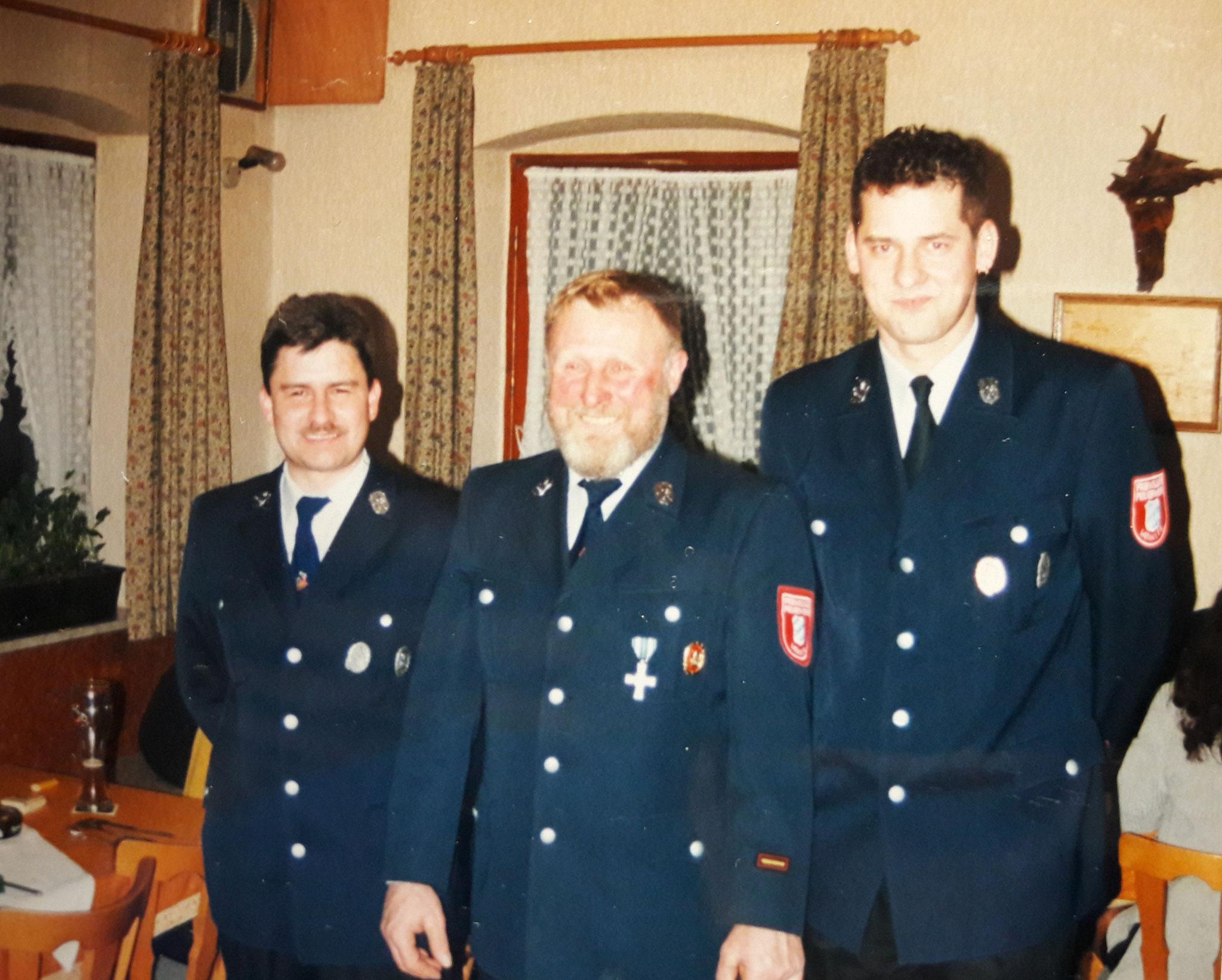 Der ehemalige Kommandant und seine Nachfolger 2000