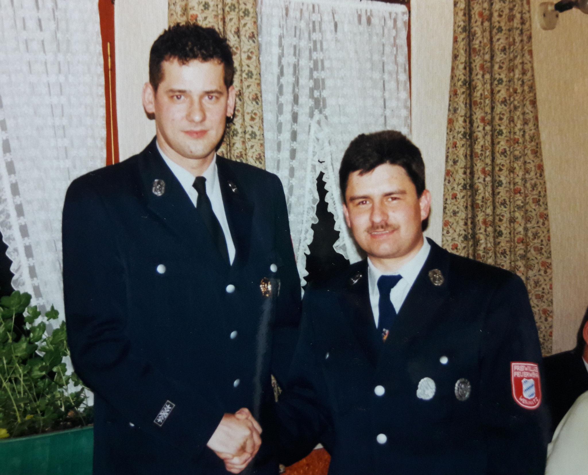 Ralf Bitter und Thomas Wörner bei ihrer Wahl 2000