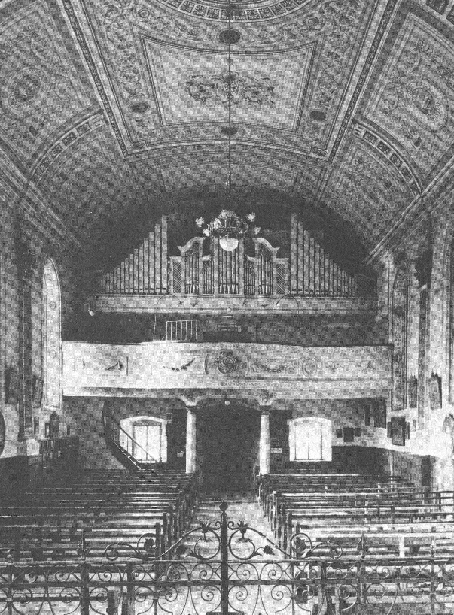 Kapelle im Ried (Orgelbau Späth/Rapperswil) Zusatand bis zur Renovierung 1966
