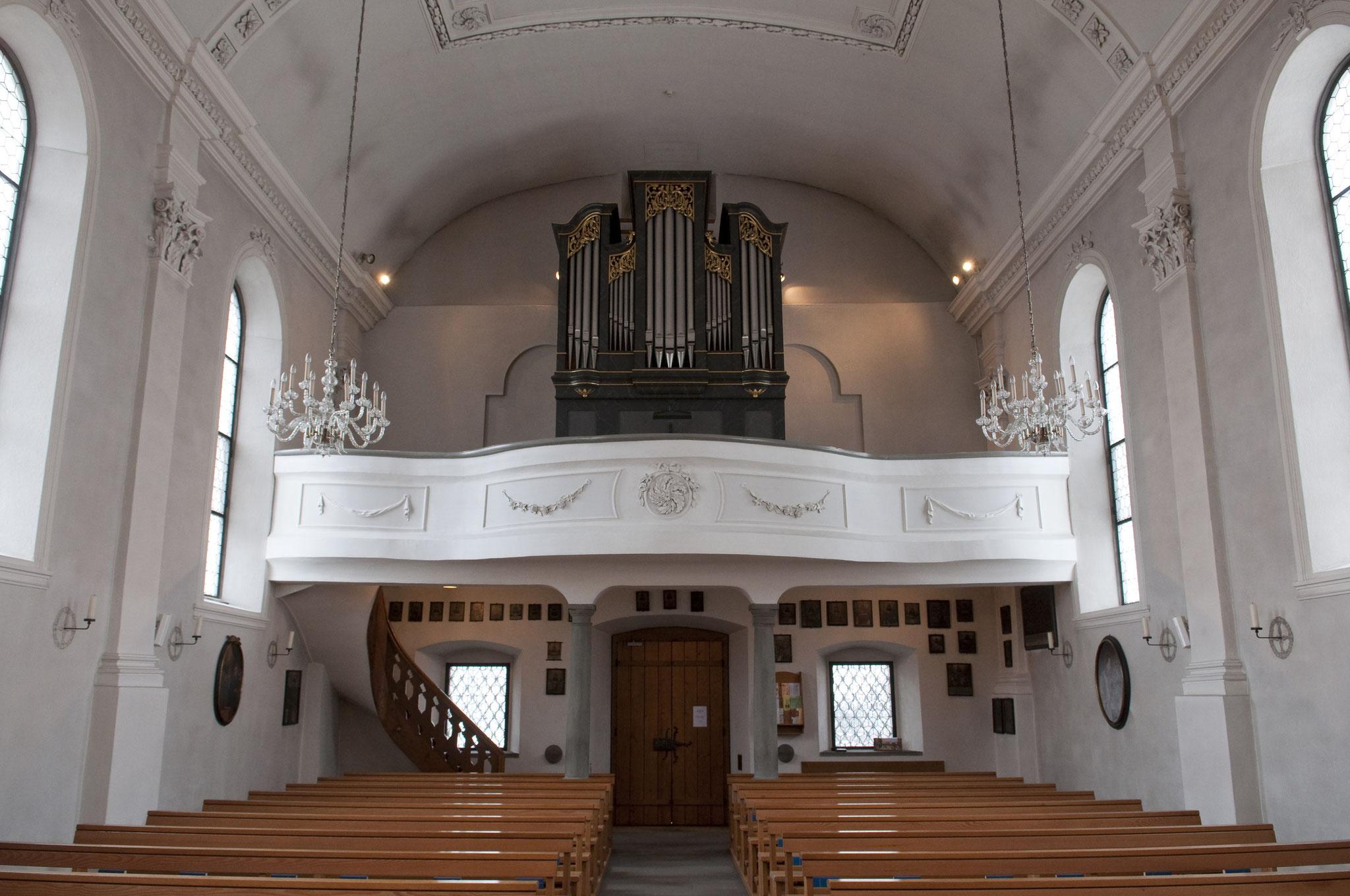 Kapelle im Ried (Orgelbau Späth/Rapperswil) Zustand seit Renovierung 1966