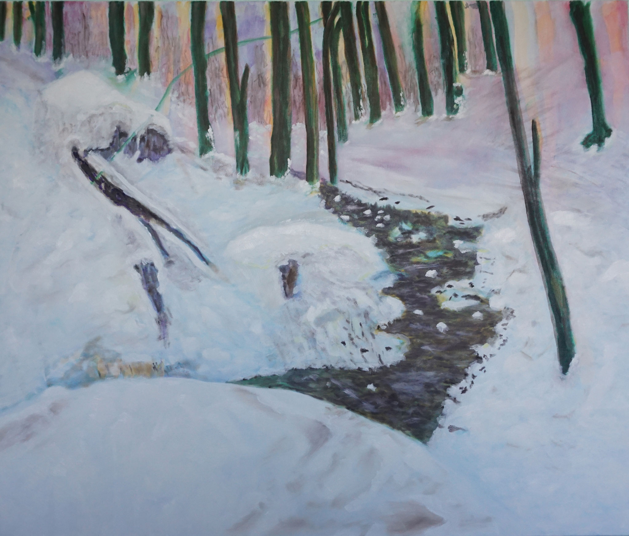 """Winter""; 120 x 100 cm; Öl auf Leinwand; 2019"