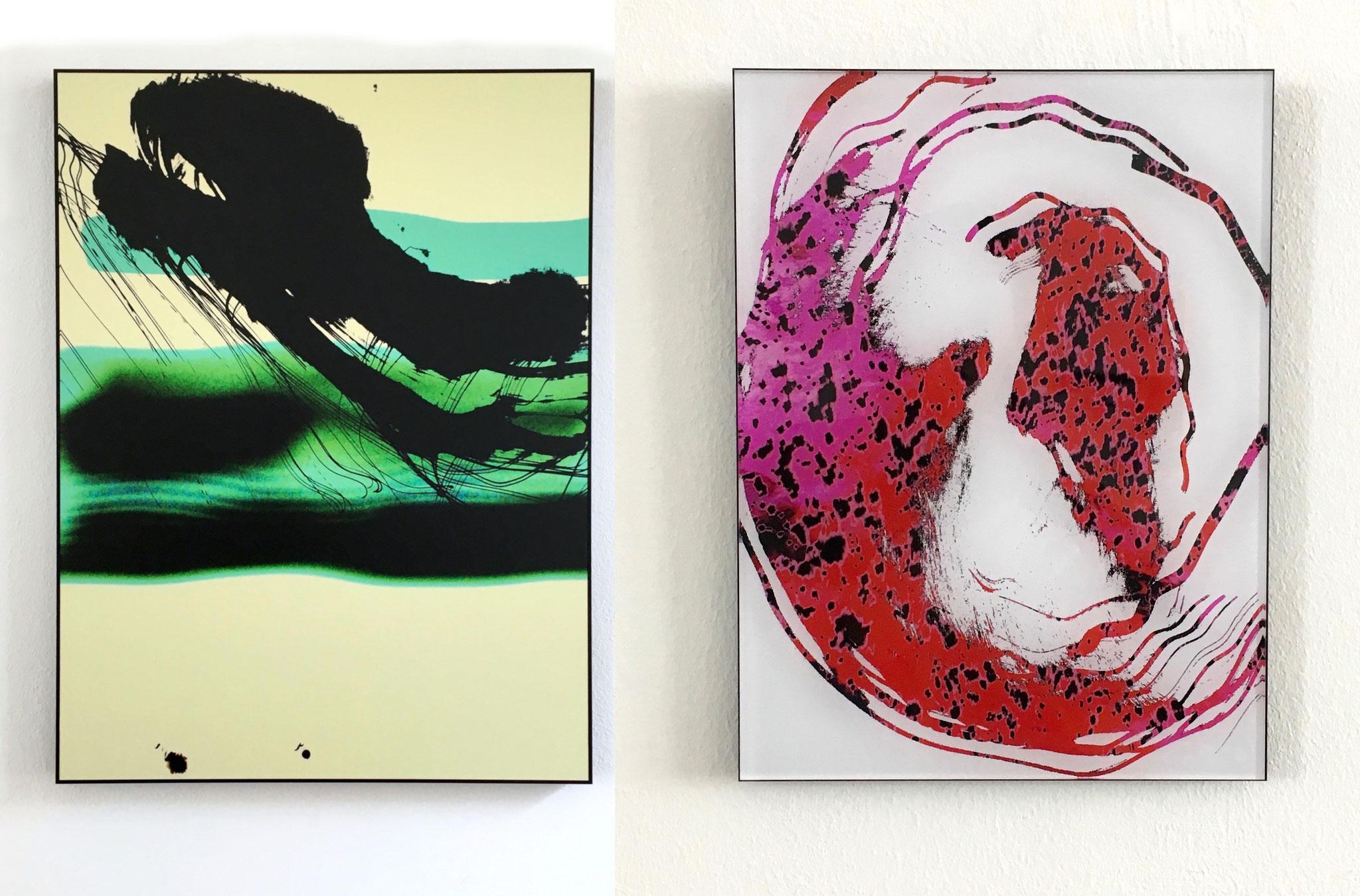 Lichter #1, 2019 80x60cm, Fotoabzug auf Aludibond & Lichtermehr #4, 2019, 28x21cm Fotoabzug hinter Acrylglas auf Aludibond