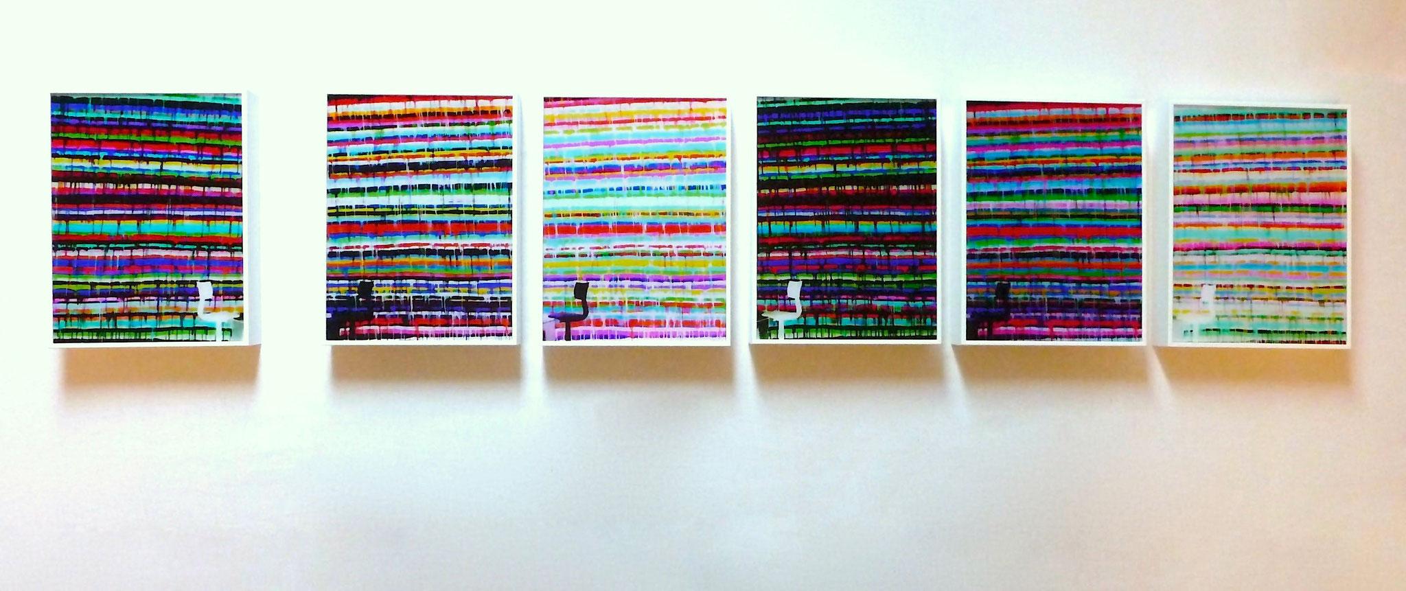Zwischen den Stühlen #1-6, 2021, 20x15cm, Fotoabzug hinter Acrylglas auf Aludibond