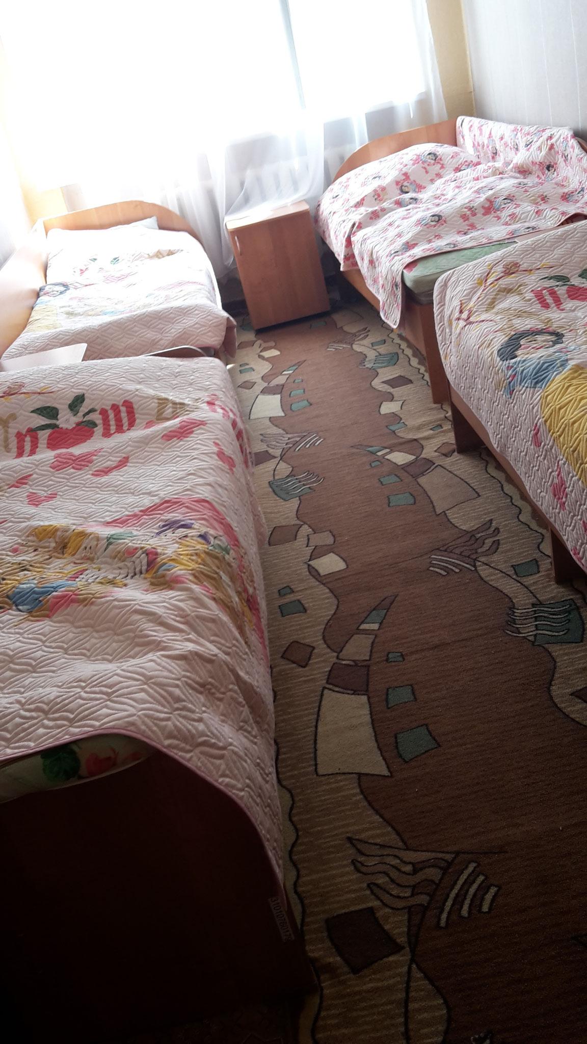 Da haben wir geschlafen