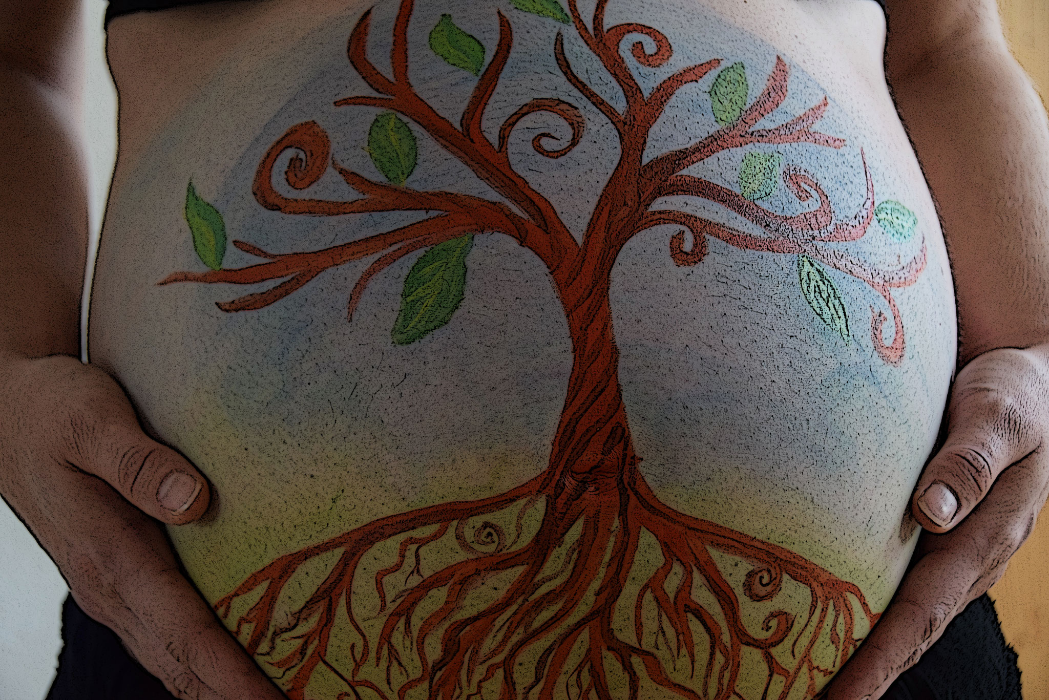Bellypainting4 - Baum des Lebens