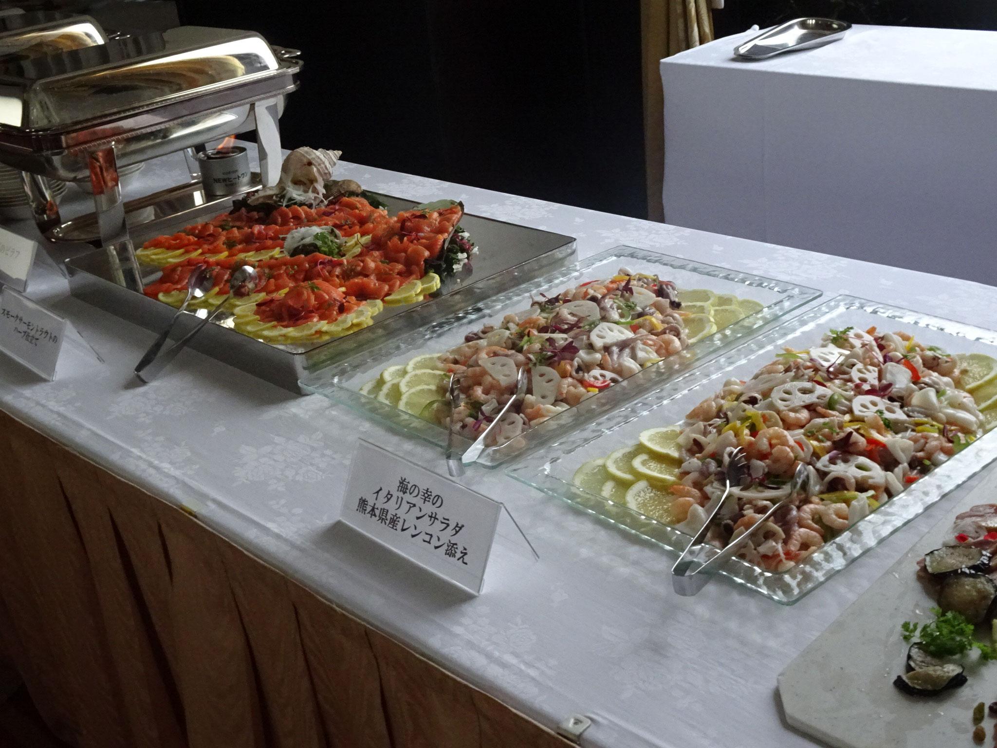 熊本県産食材を使ったお料理の数々