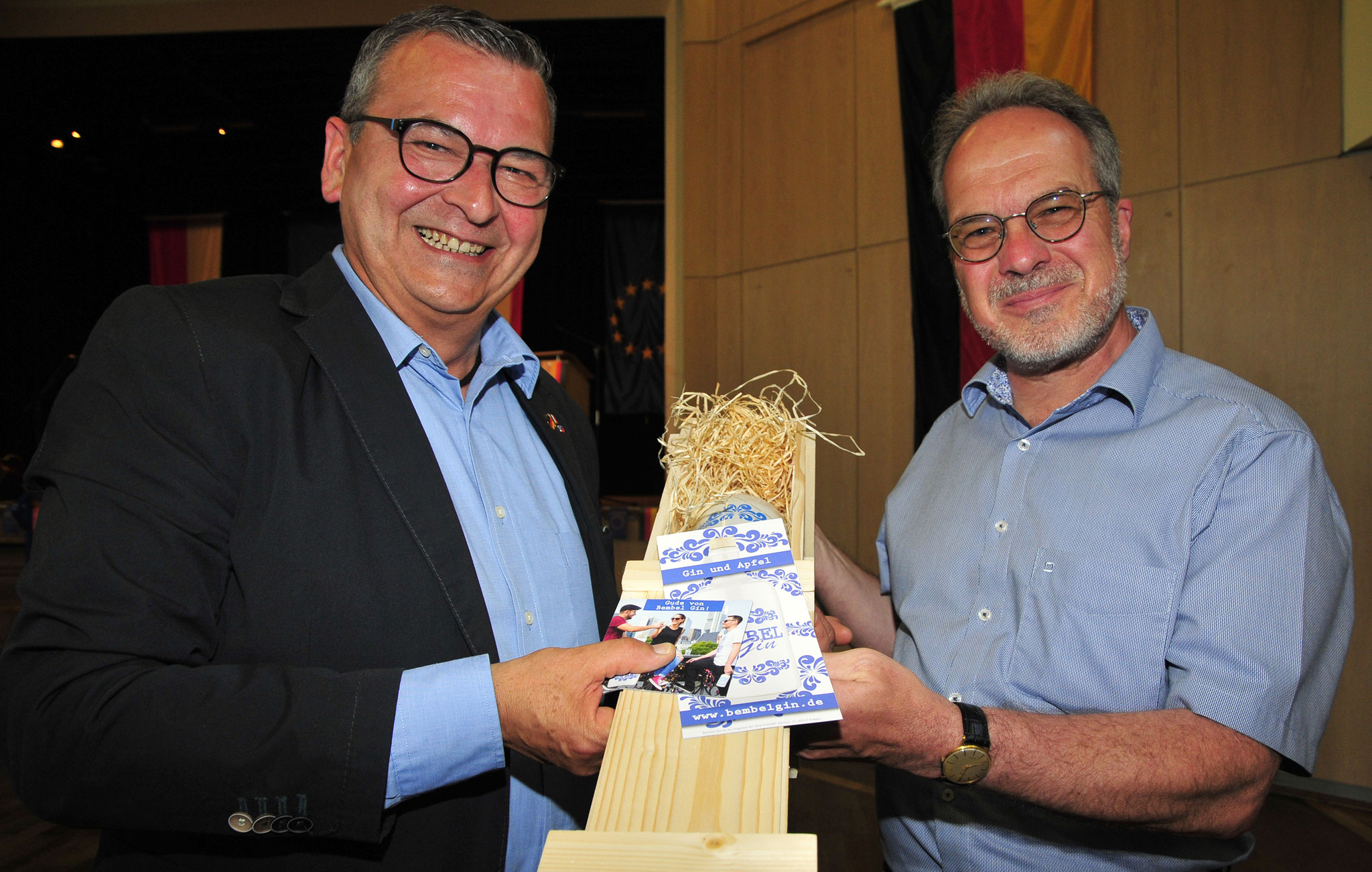 Bürgermeister Jürgen Hoffmann und 1. Vorsitzender Andreas Spott © Karin Klemt