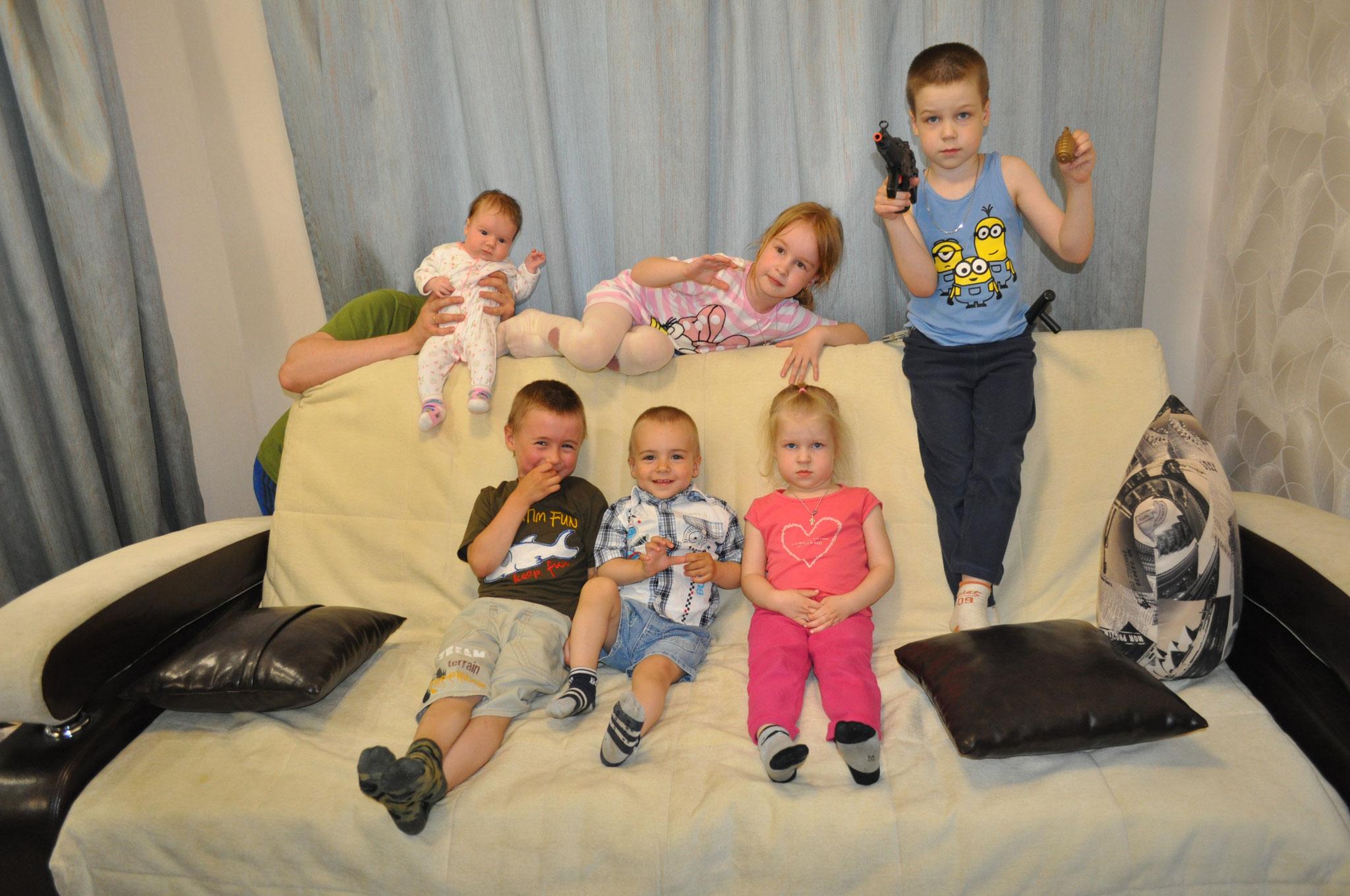 Мои внуки и дети