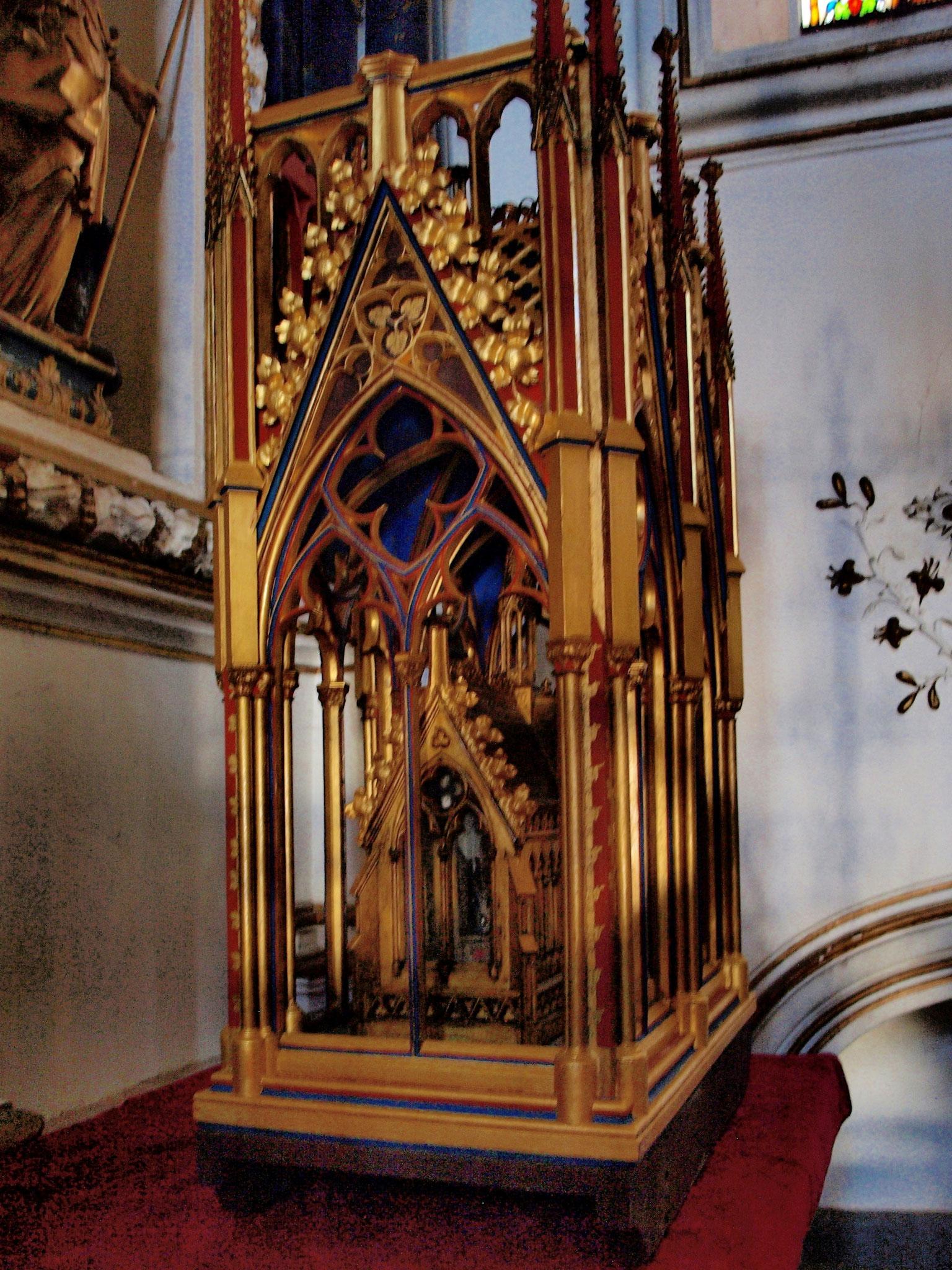 Reliquaire dans la chapelle Ste Richarde