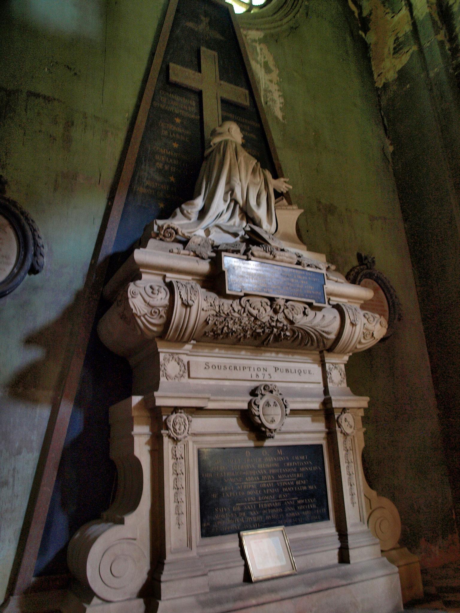 Senones : la tombe de dom Calmet