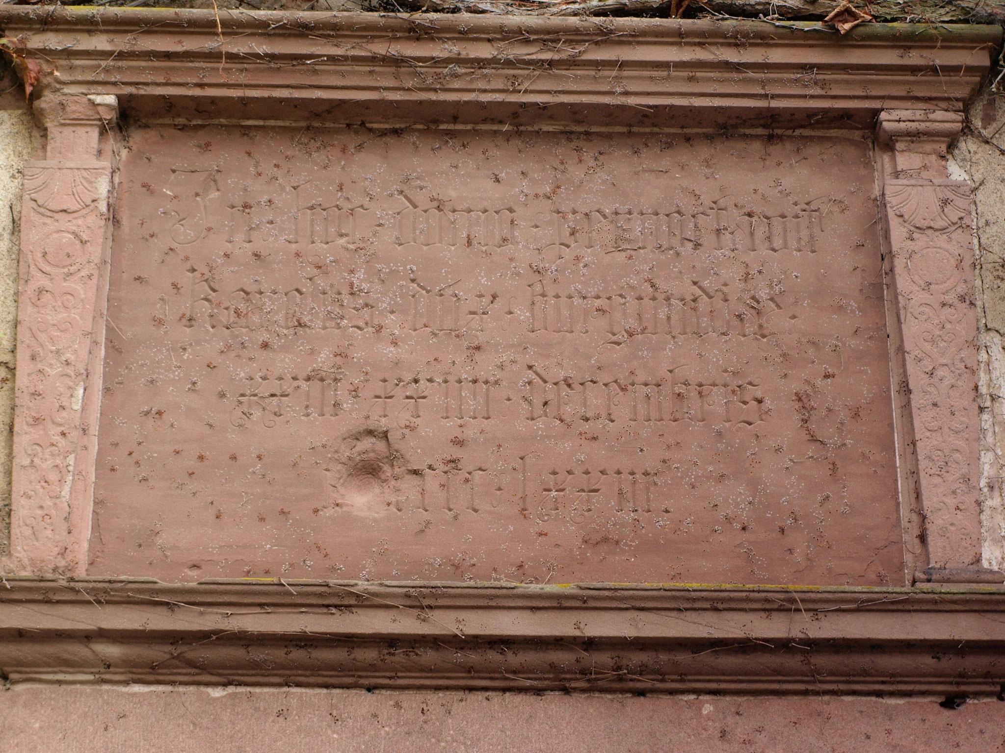 Plaque commémorant le séjour de Charles le Téméraire