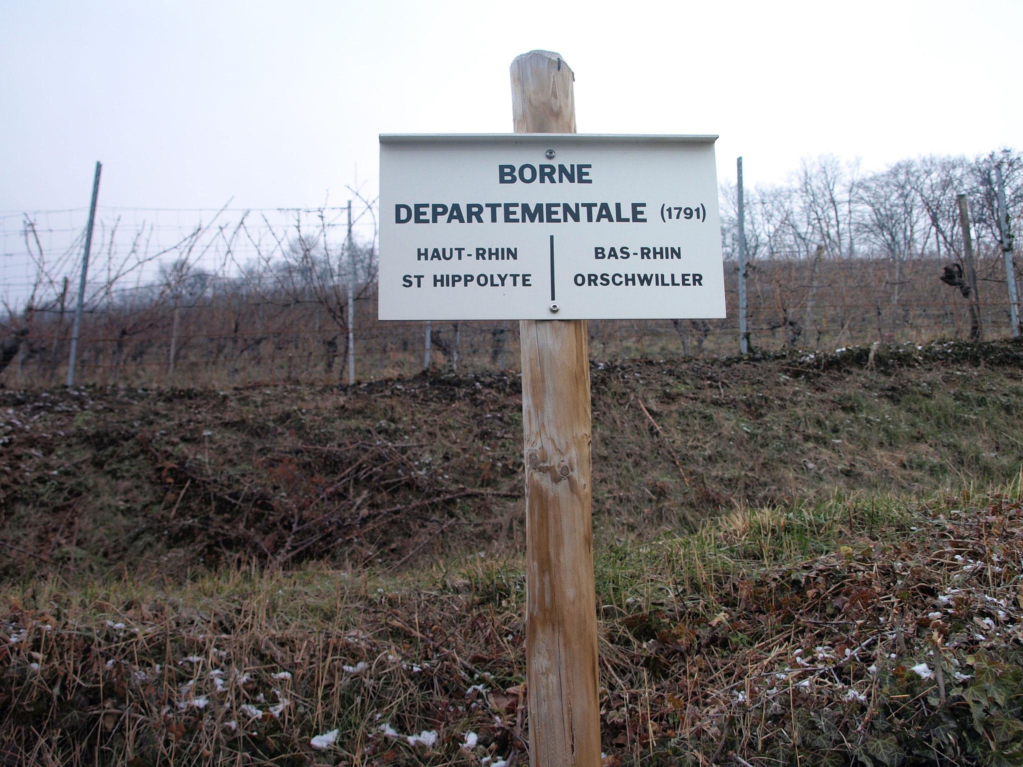 Borne départementale