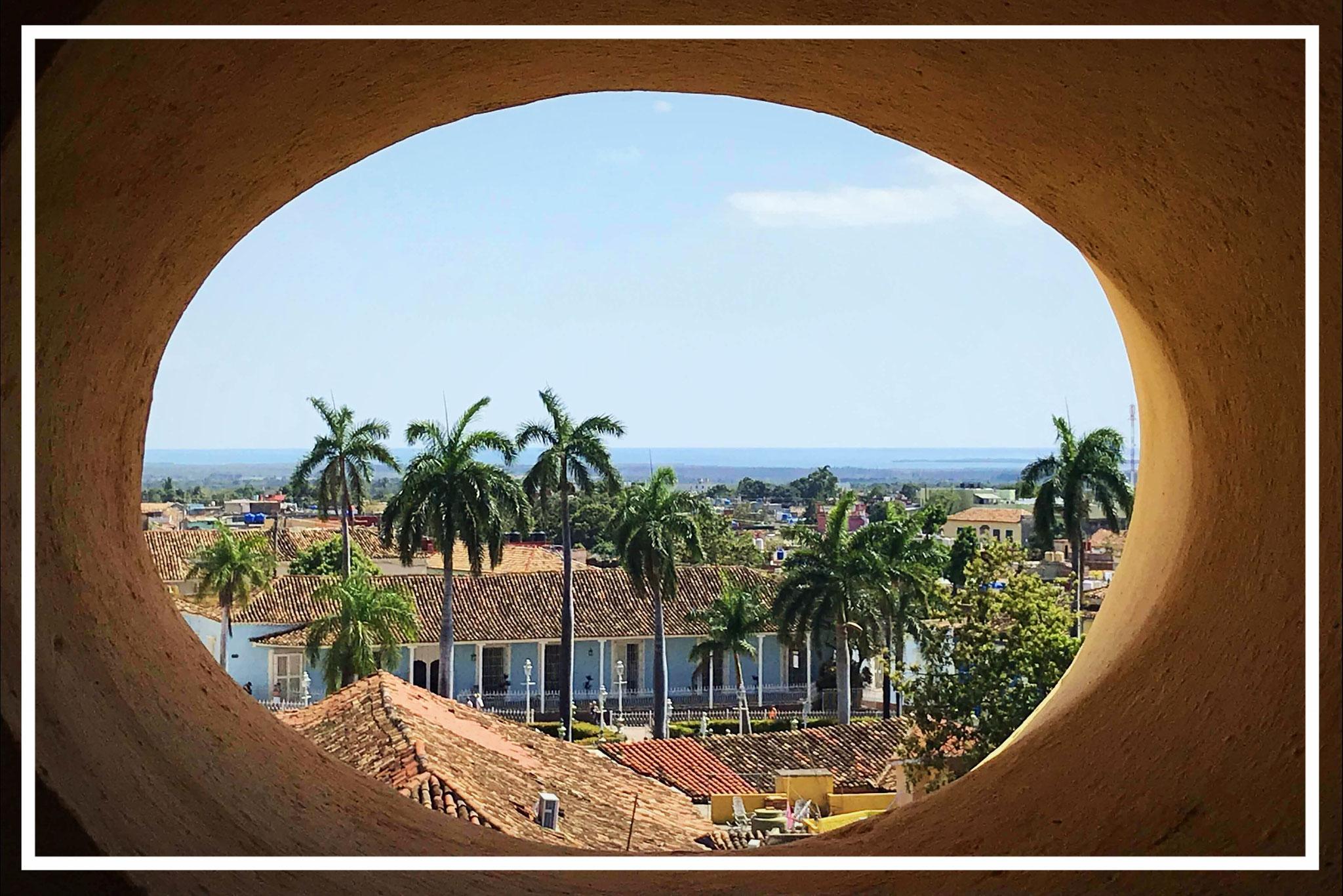 Blick aus dem Glockenturm des ehemaligen Franziskanerklosters