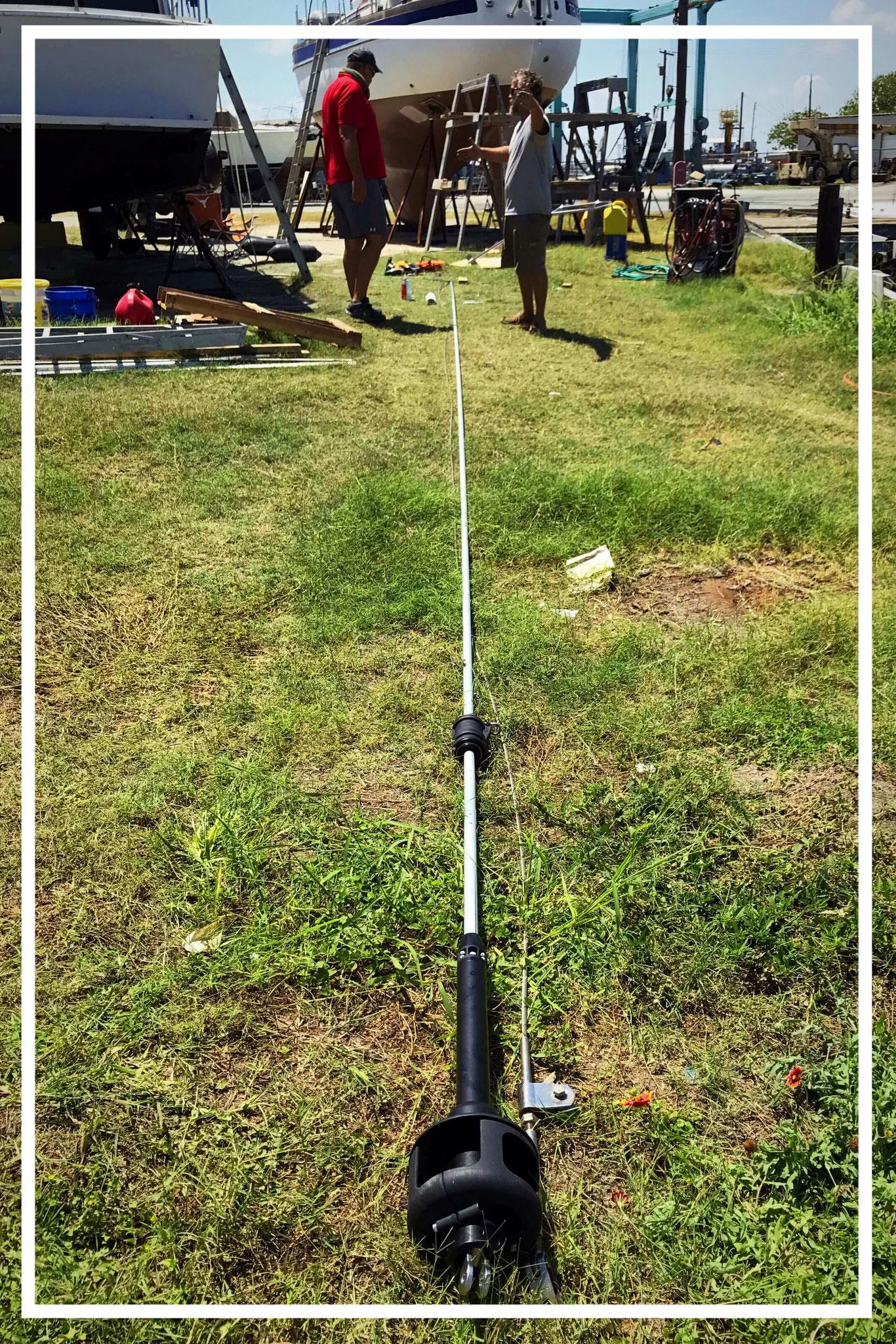 Rollreff - Zum Aufrollen und zum Positionhalten eines Segels