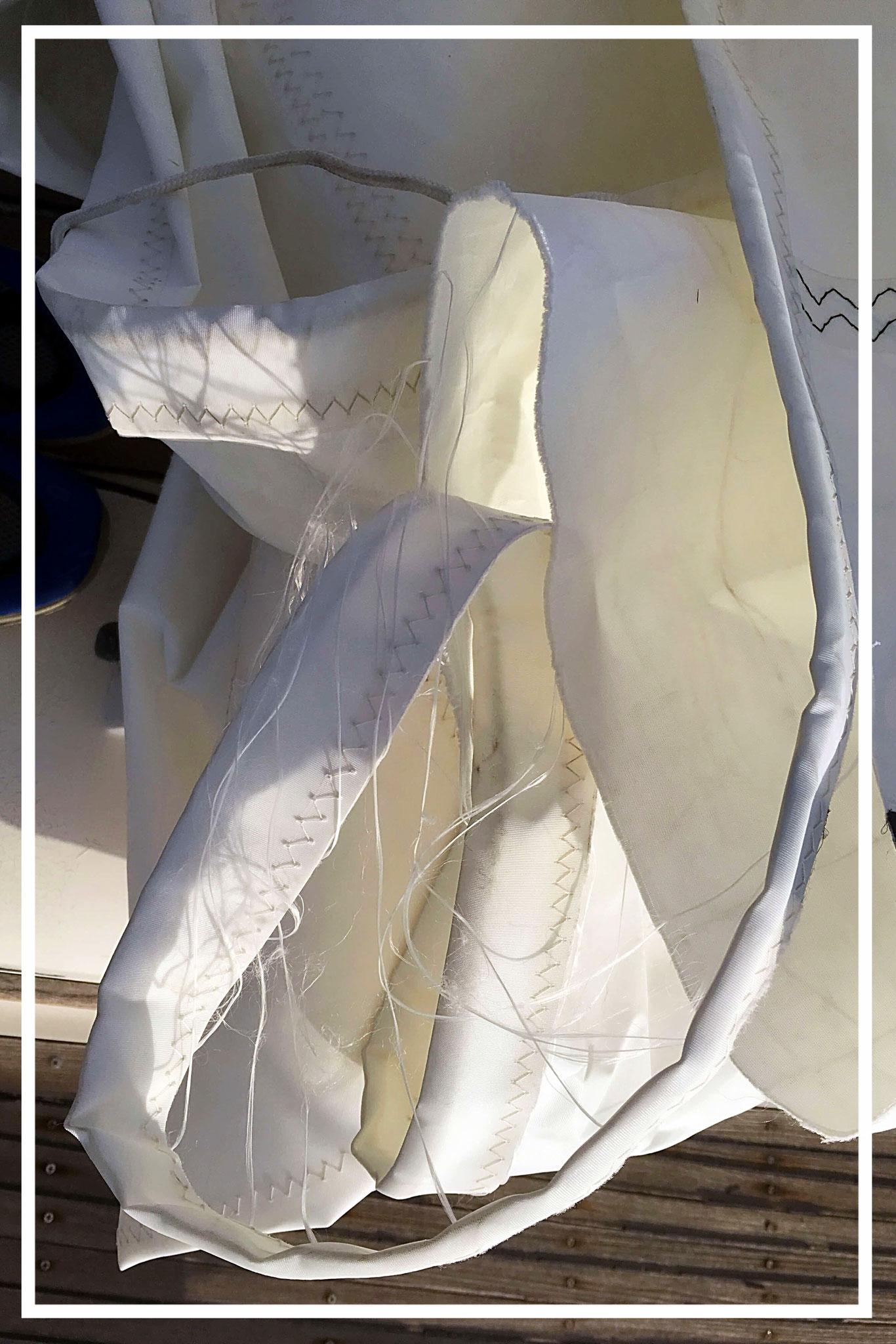 ripped sail