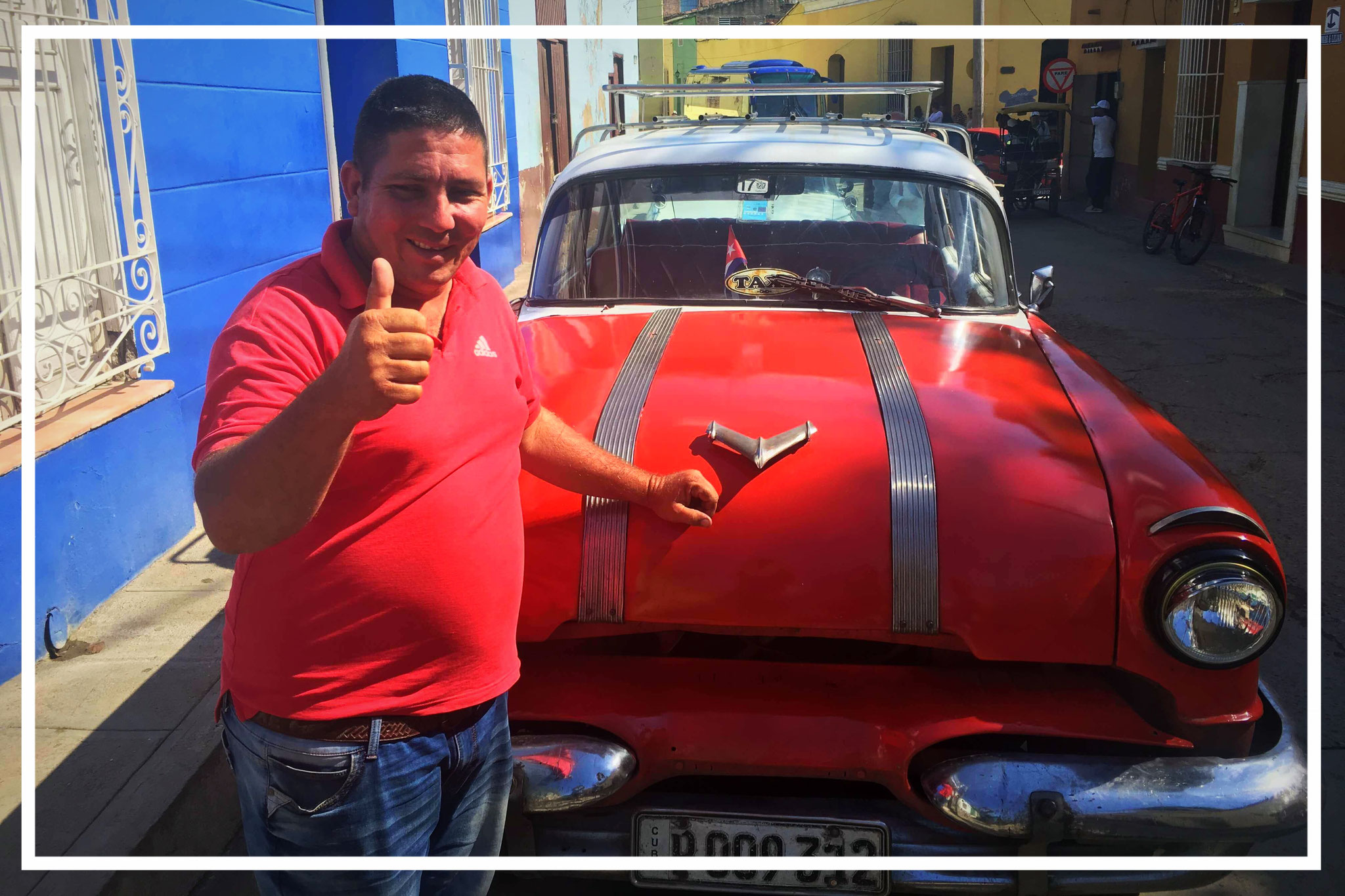 Nelson - proud taxi driver from Cuba