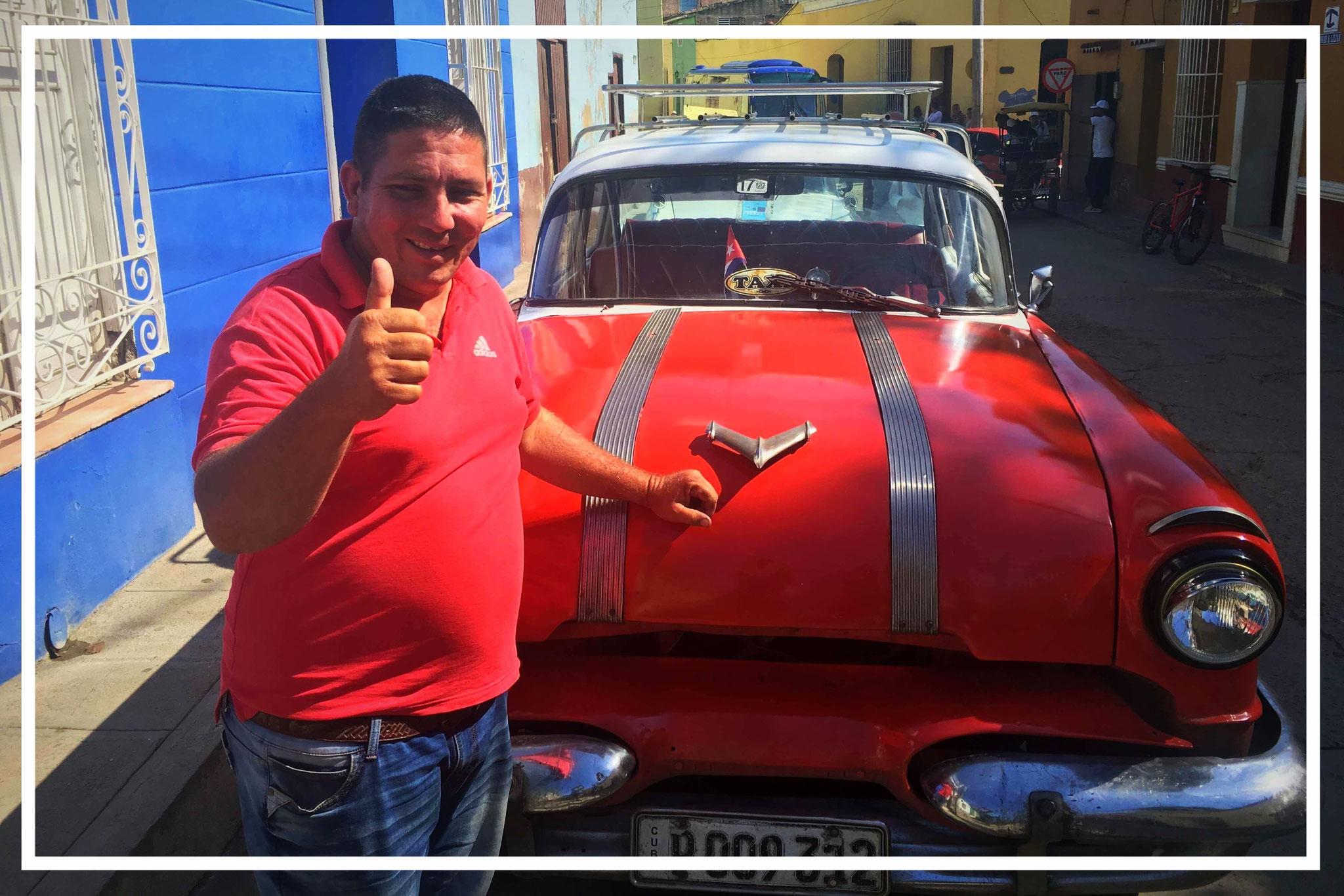 Nelson - stolzer Taxifahrer aus Kuba