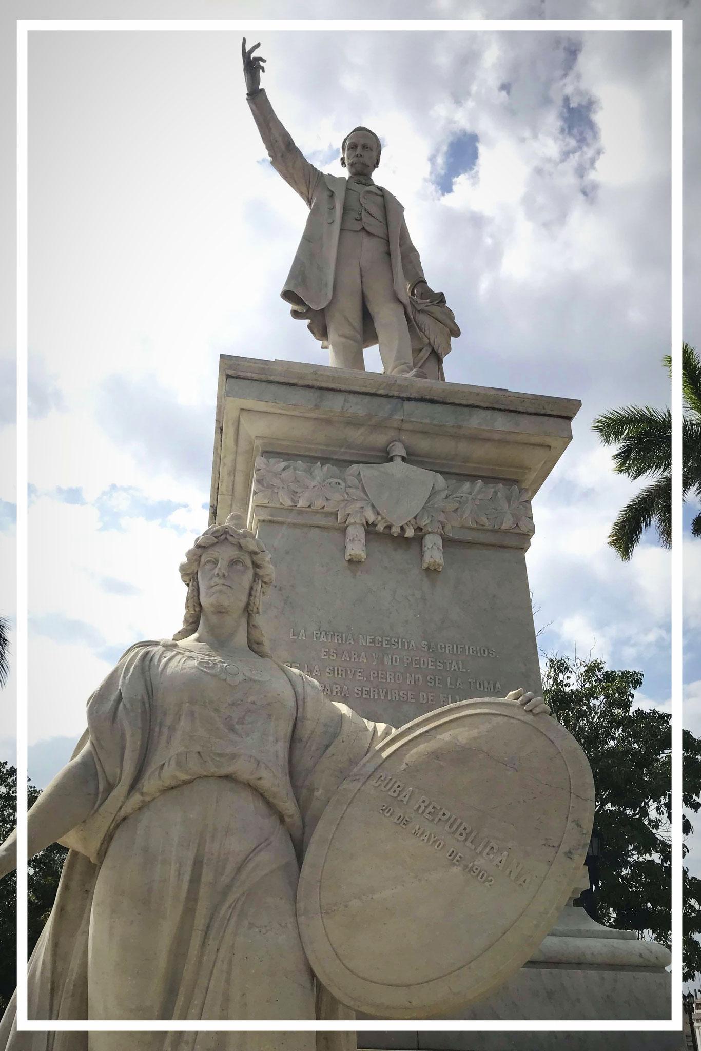 Statue of José Martí in the Parque Martí
