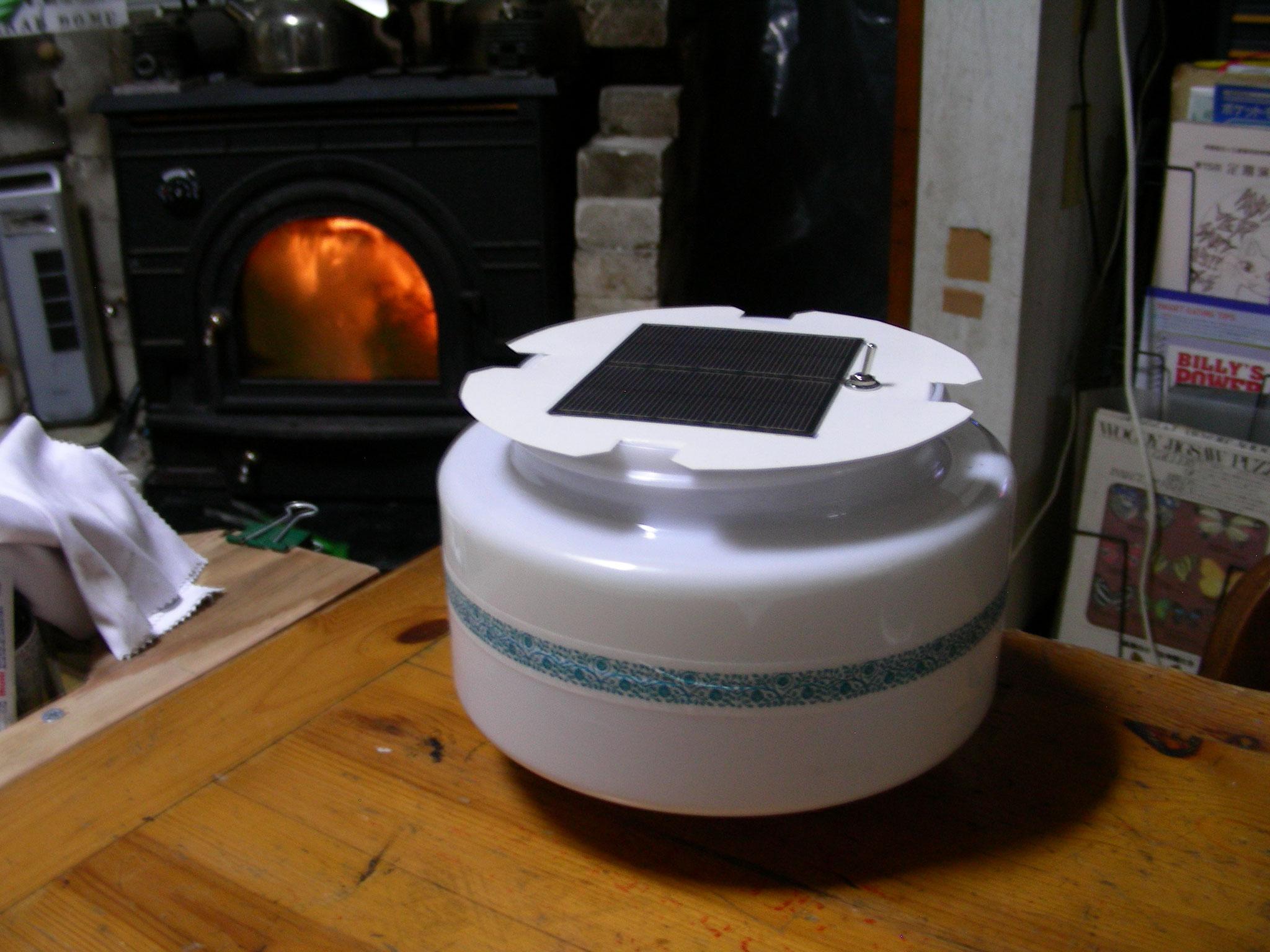 振動ランプ(震度感知)+太陽光で蓄電