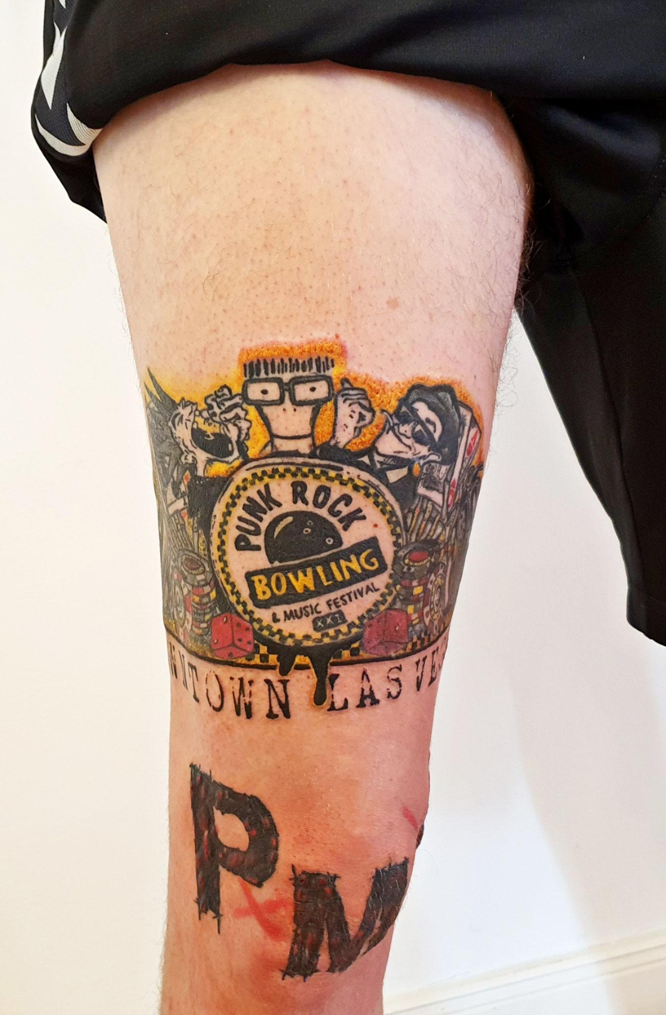 Punkrock comic tattoo