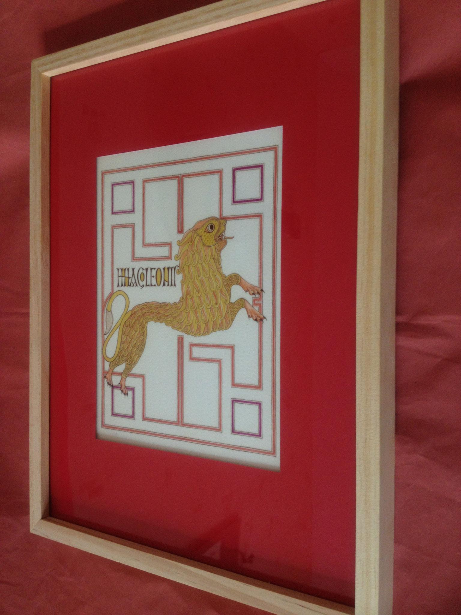 Lion de Saint Marc, enluminure style insulaire