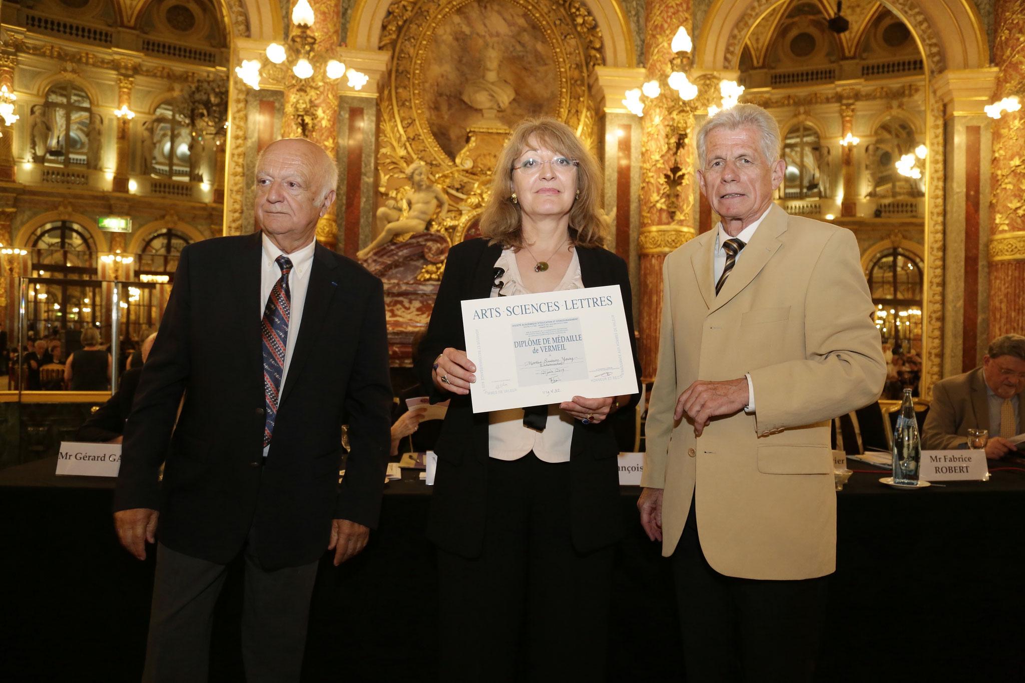 Diplôme de médaille remis par M. François Toix, président d'ASL