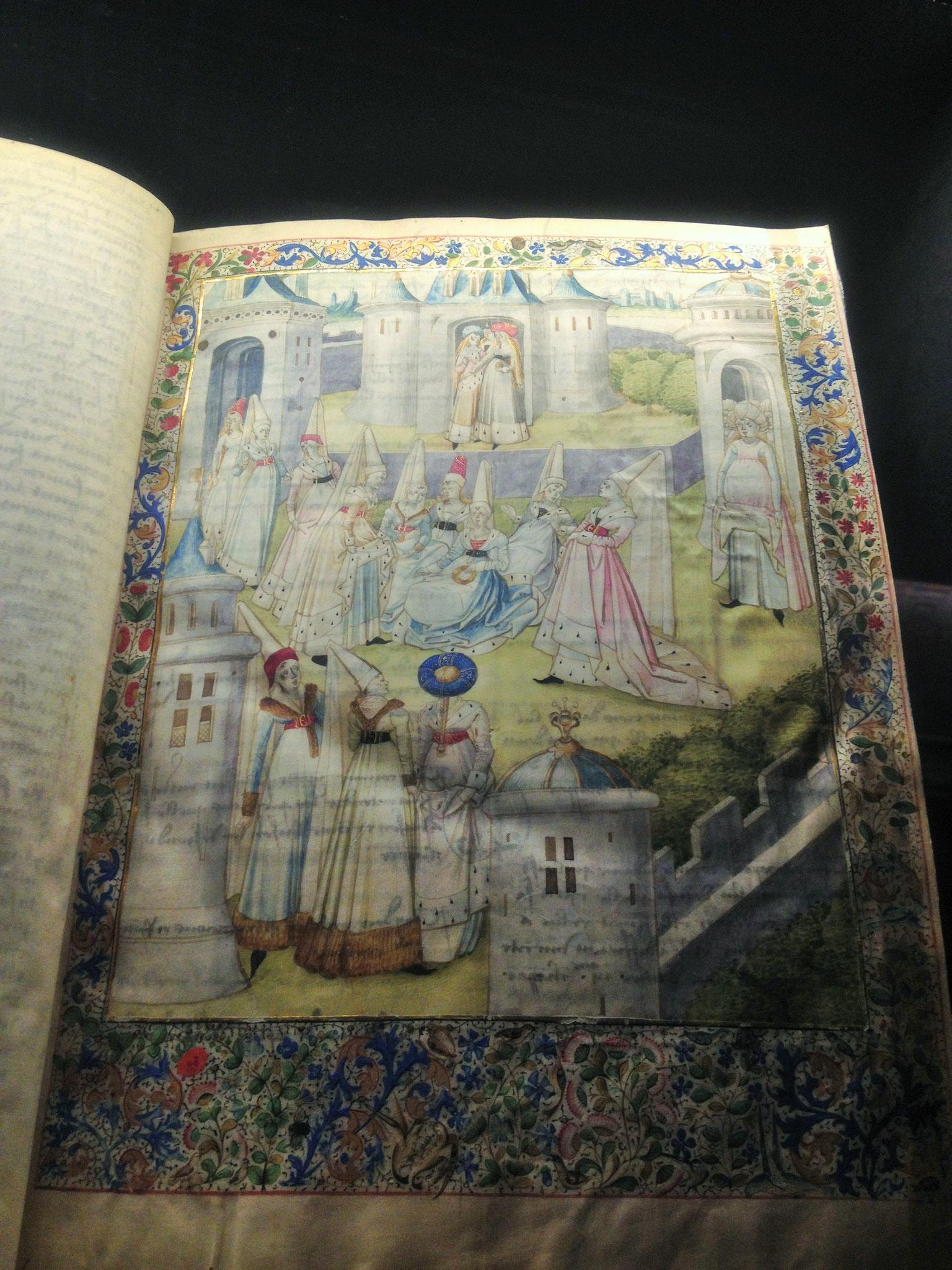 """Frontispice au lavis de """"La cité des Dames"""" Christine de Pisan"""