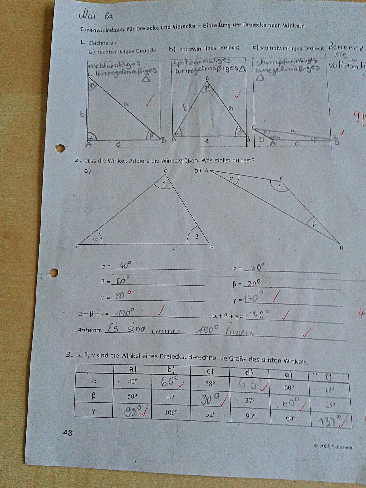 Geometrie Klasse 6