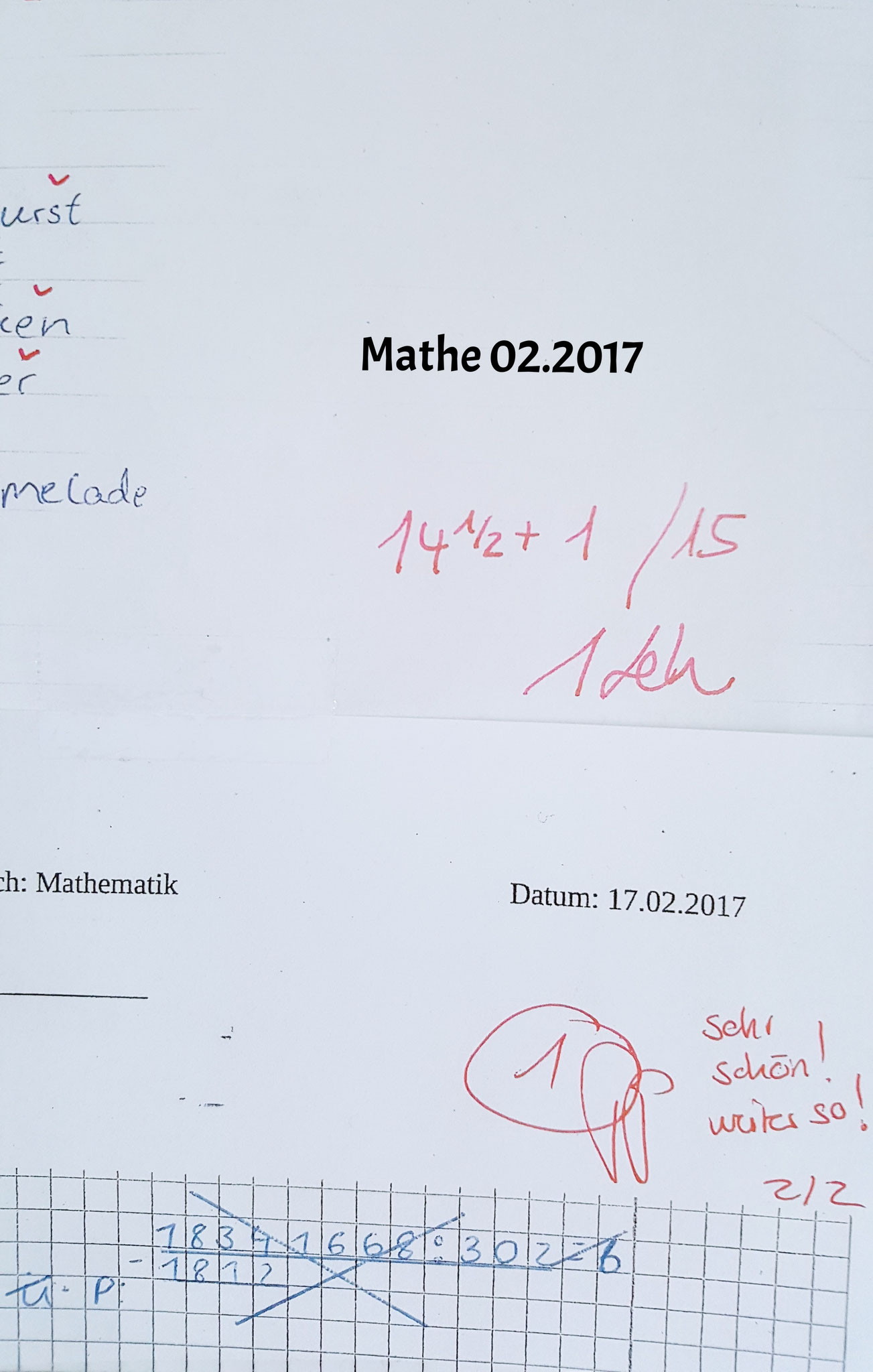 Mathe Note 1