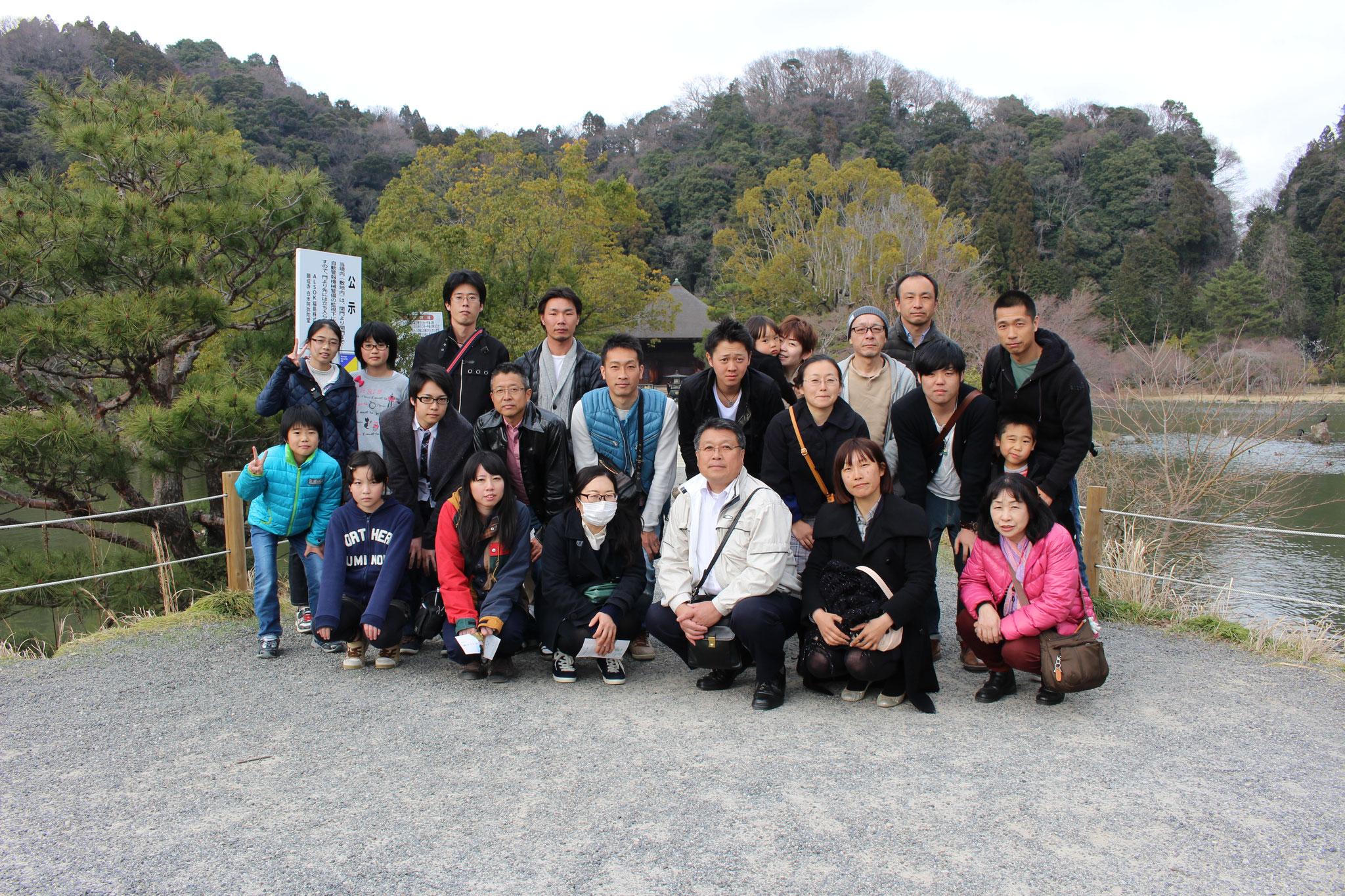白水阿弥陀堂で浄土式庭園を散策。