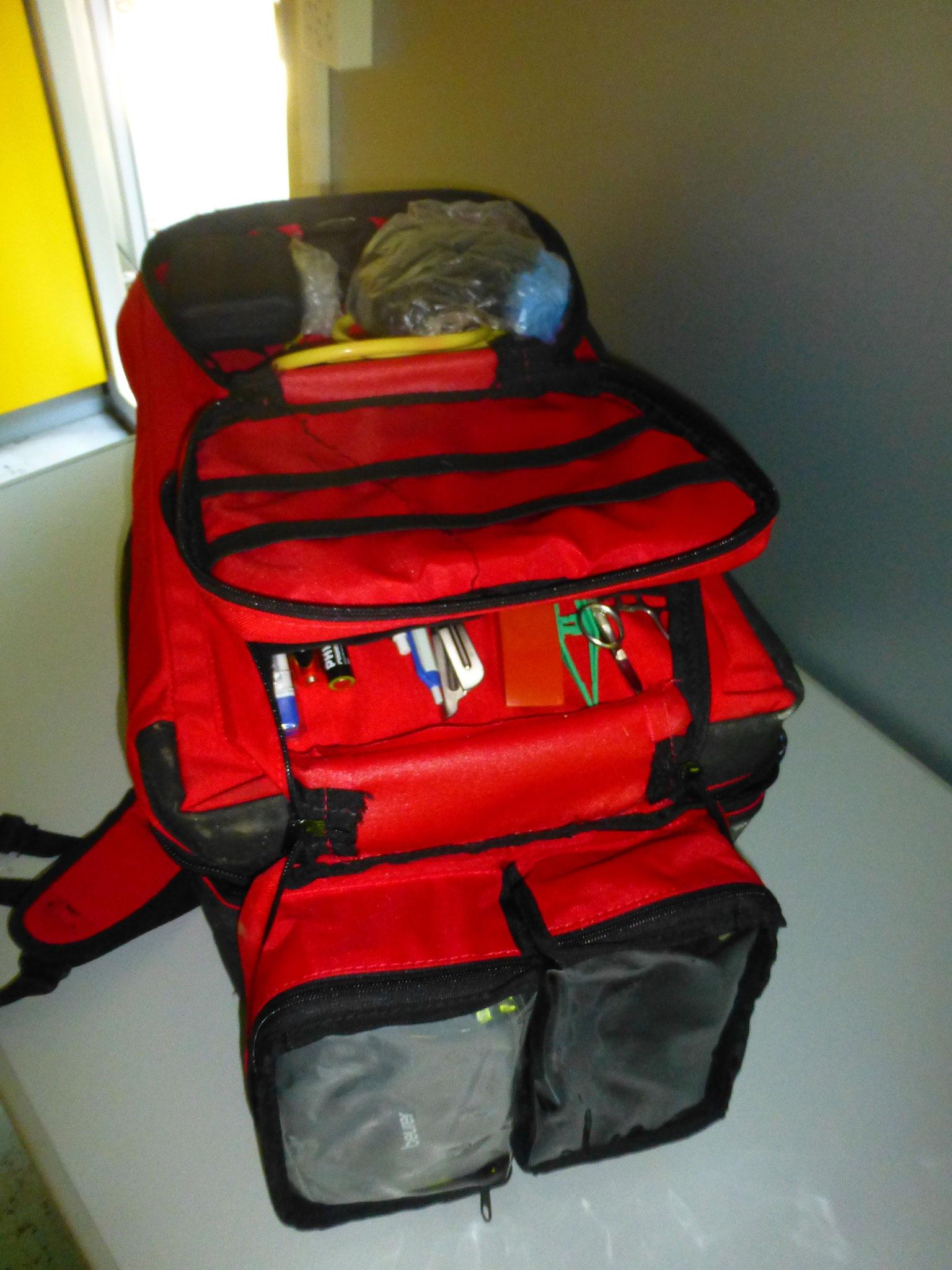 Sanirucksack für den mobilen Einsatz