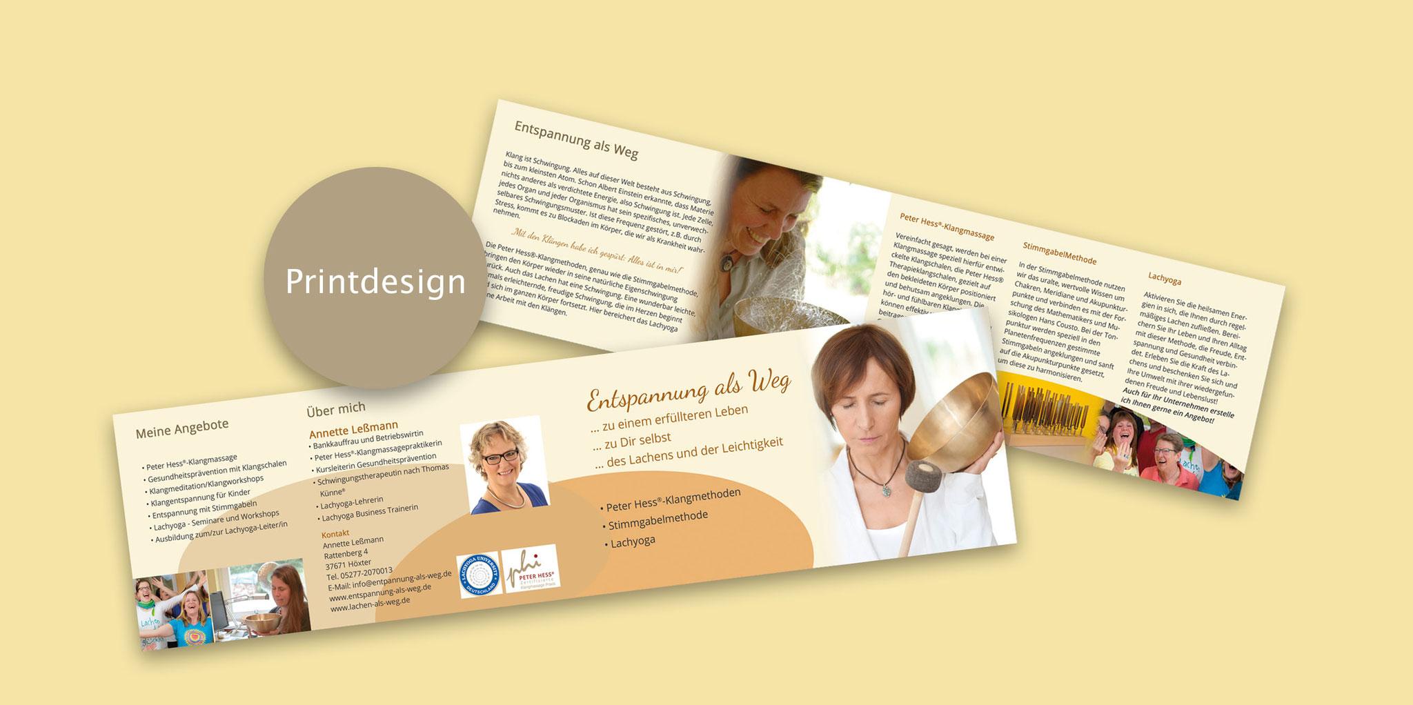 Corporate Design, Print Design, Web Design: www.entspannung-als-weg.de
