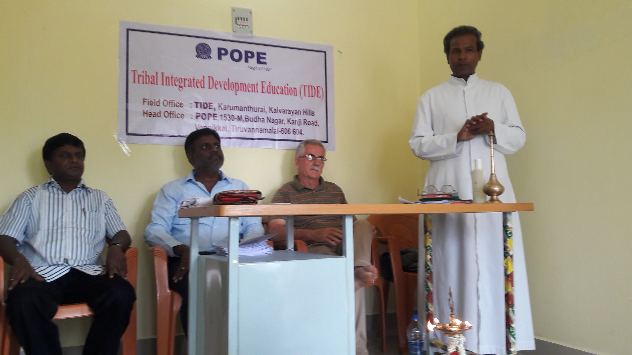 Fr. Durai Raj, parish priest of Karumanthurai, Kalvarayan Hills.