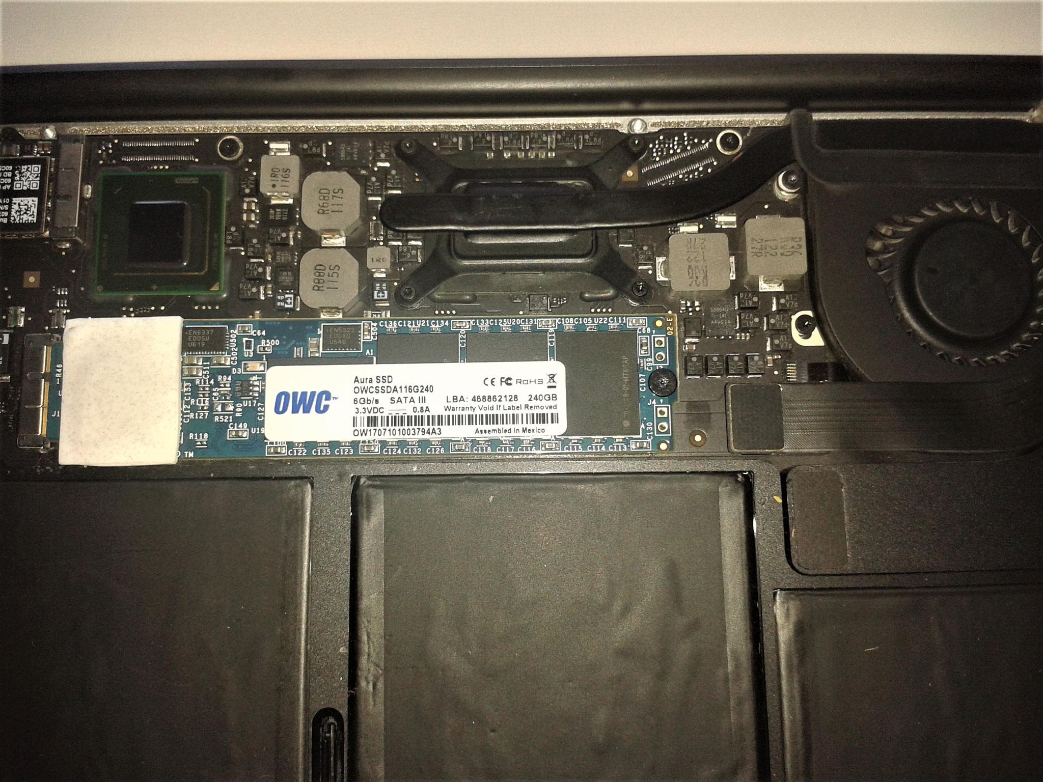 MacBook Pro / Air SSD Upgrade inkl. Datenübernahme. Oder Festplatte Defekt? Wir tauschen schnell und unkompliziert.