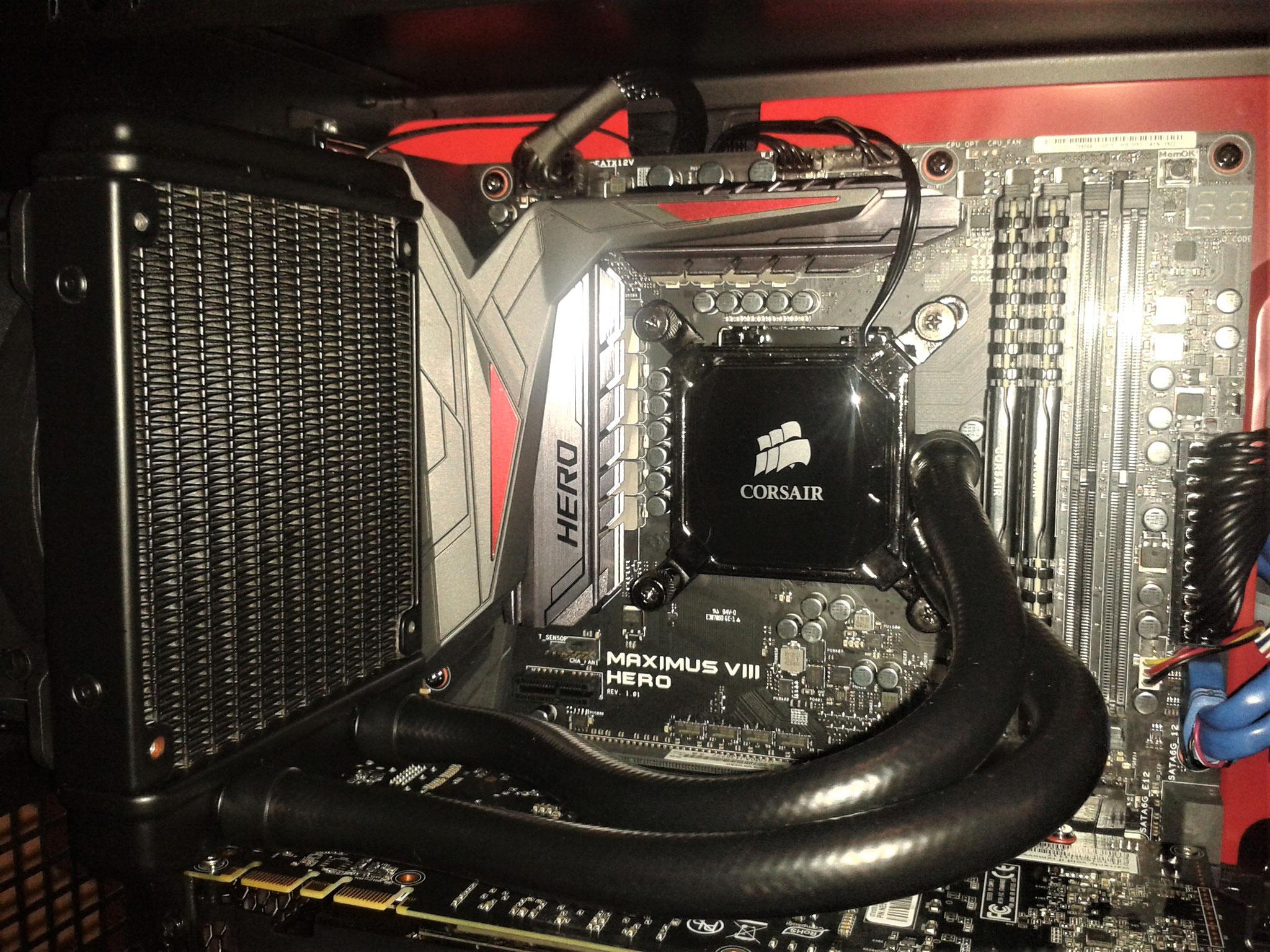 Auch Wasserkühlung für High-End- und Gaming-PCs sind natürlich kein Problem.