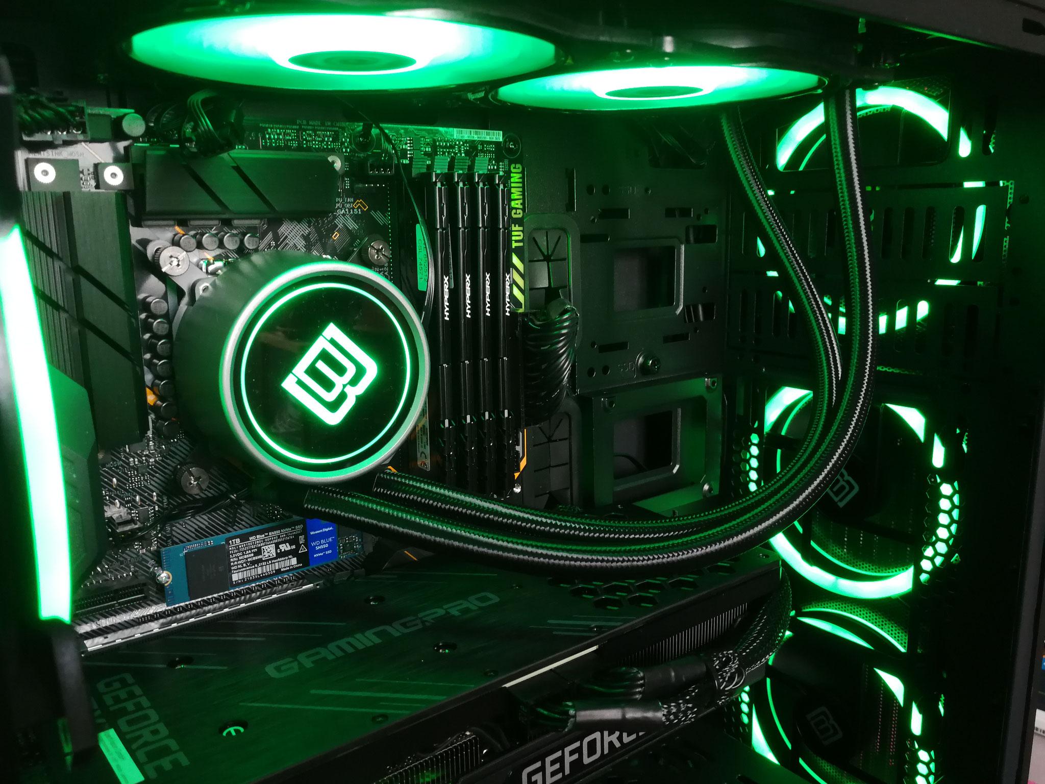 Max. Framerate. Max. Qualität. GeForce RTX 3090. Wir sind zufrieden, wenn unser Kunde Spaß hat!