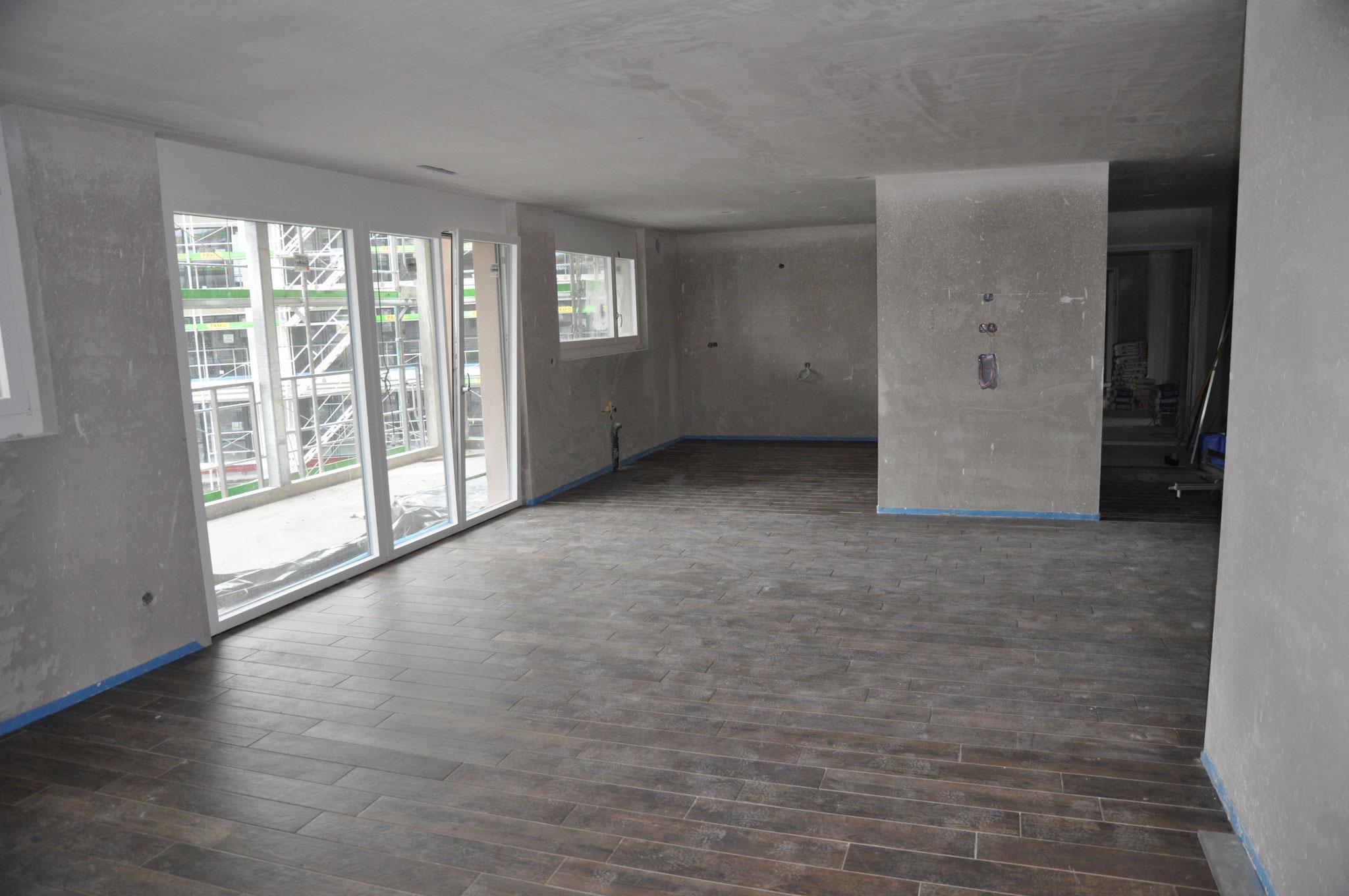 Innenausbau Küche/Essen/Wohnen 3,5 Zimmer Wohnung Einheit B (März 2016)