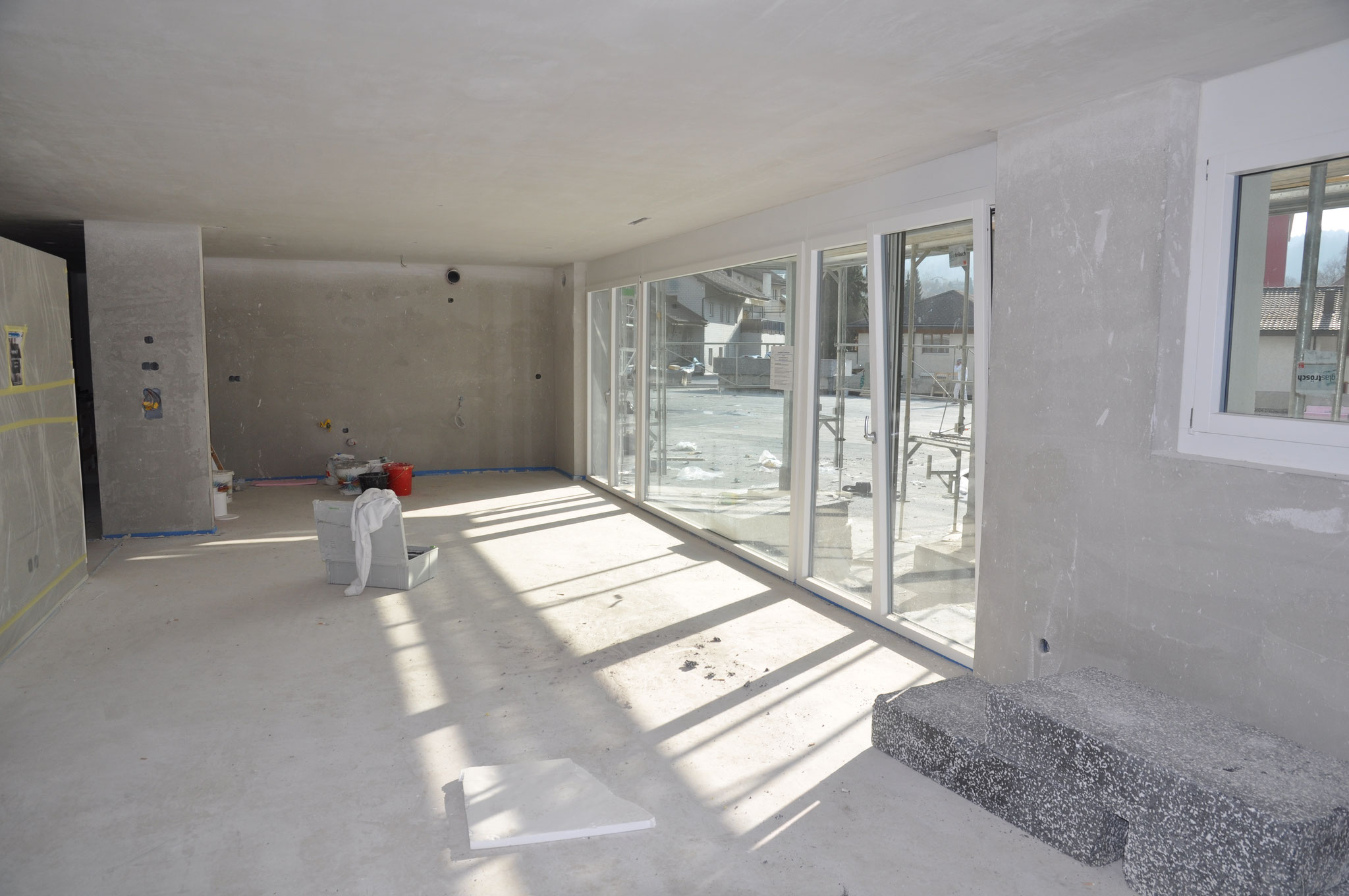 Innenausbau Küche/Essen/Wohnen 4,5 Zimmer Wohnung Einheit B (März 2016)