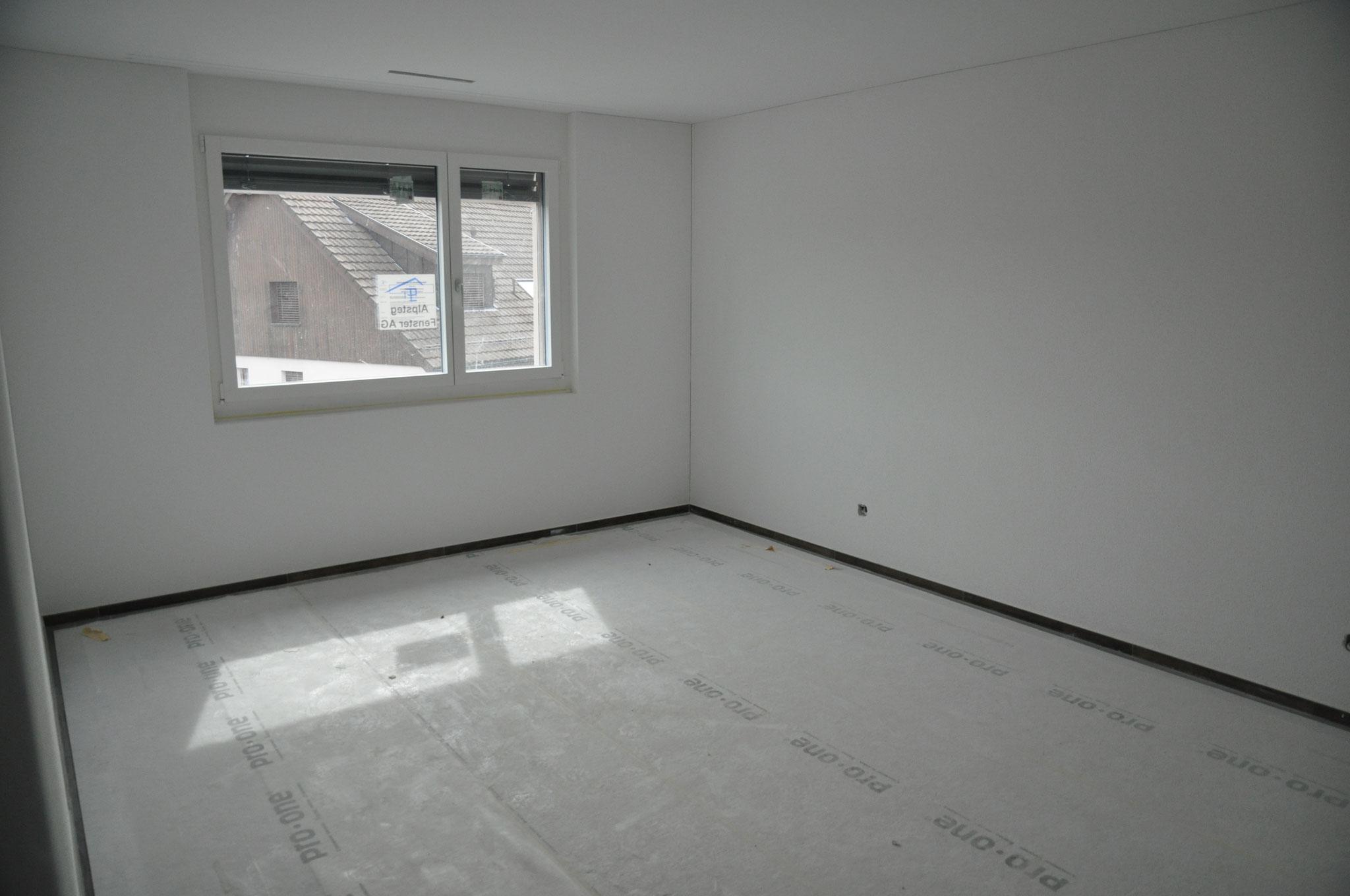 Innenausbau Schlafzimmer 3,5 Zimmer Wohnung Einheit B (Mai 2016)