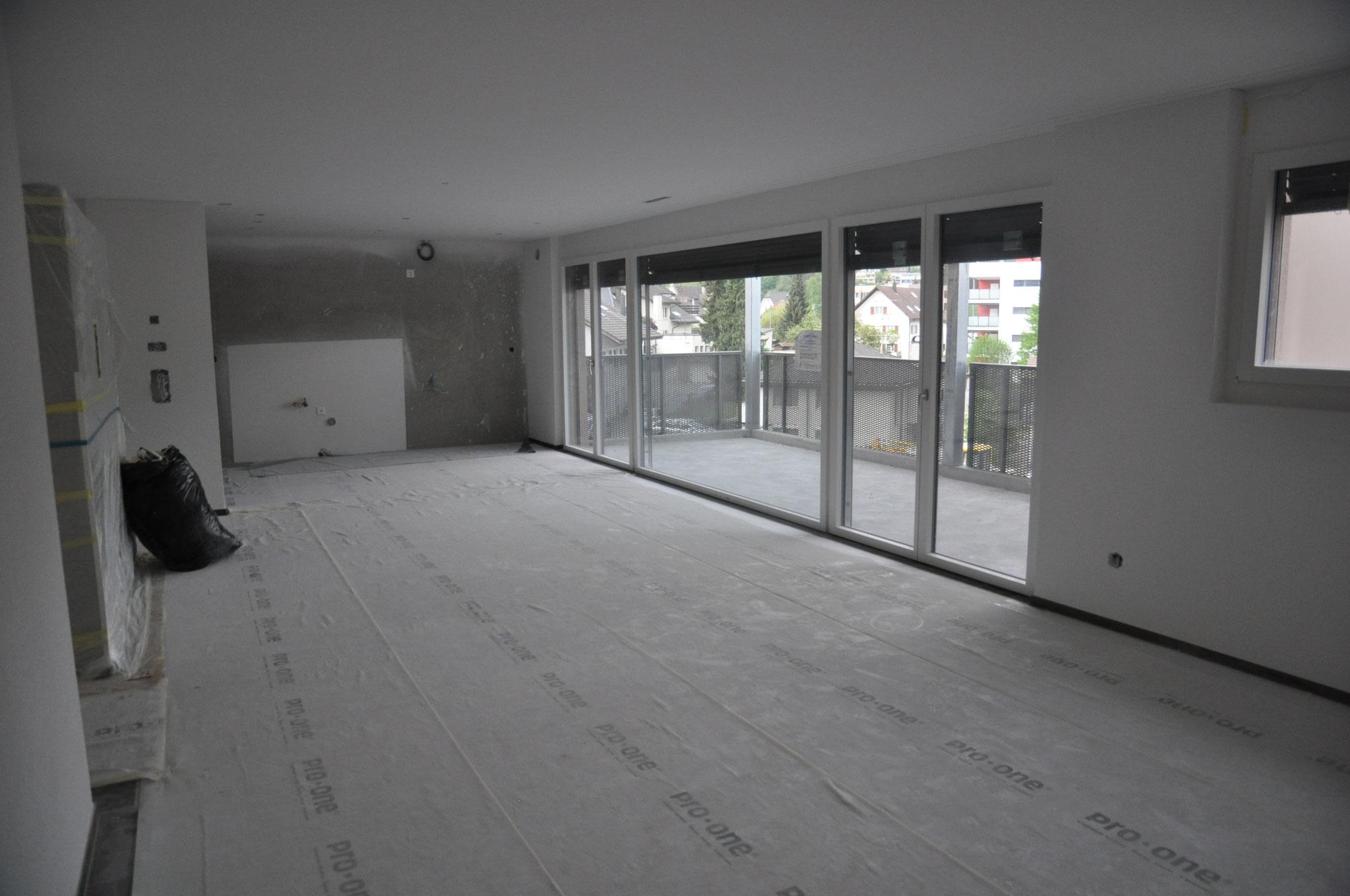 Innenausbau Küche/Essen/Wohnen 4,5 Zimmer Wohnung Einheit B (Mai 2016)