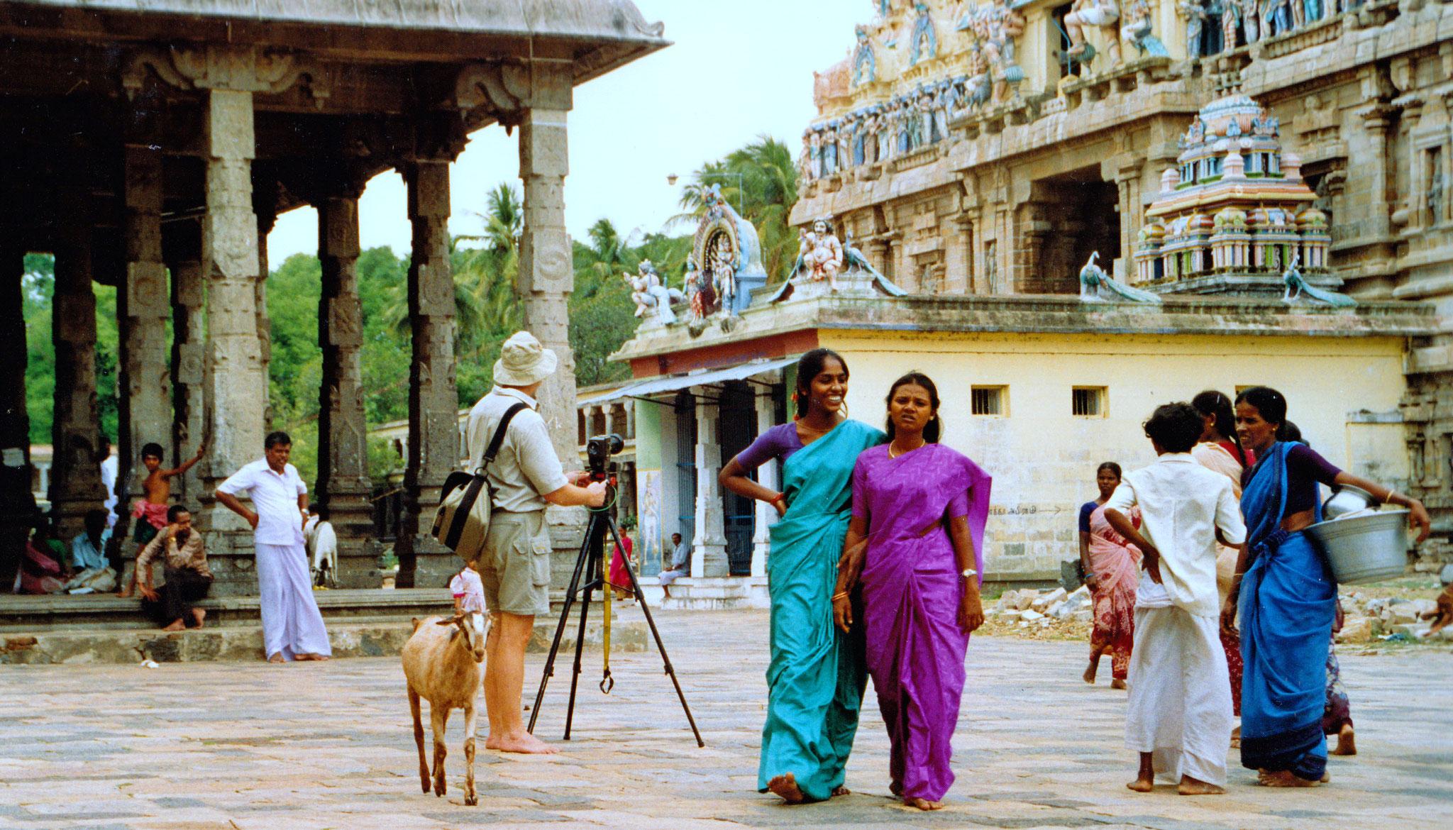 Im Tempelbereich, Südindien