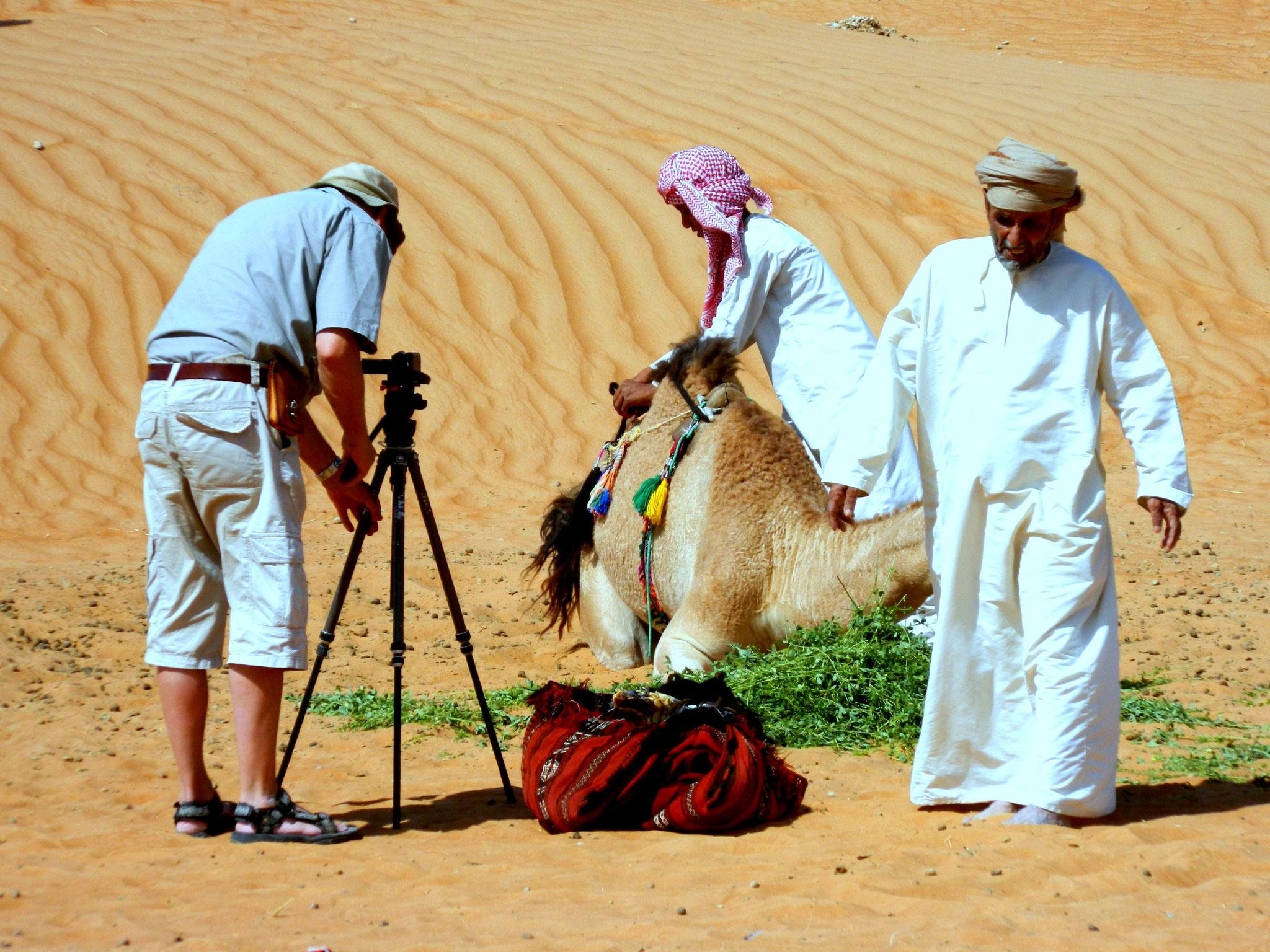 In der Wahiba-Wüste, Oman