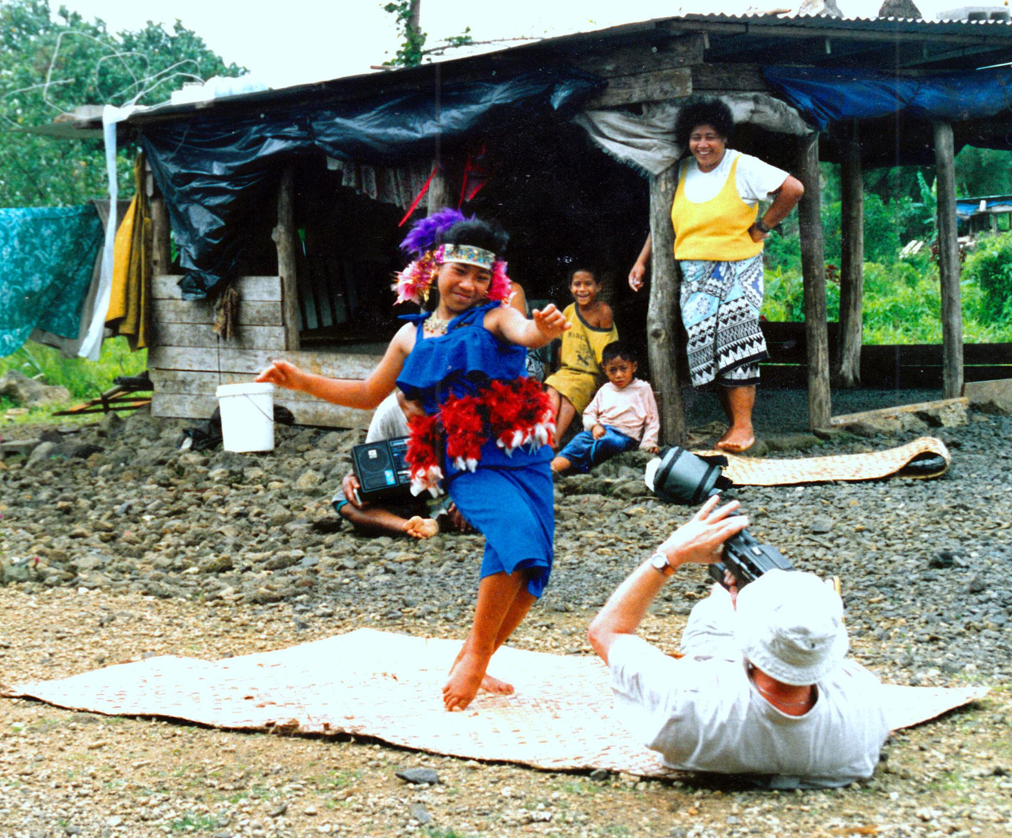 Der gerade gelernte Tanz für den Besucher, Samoa
