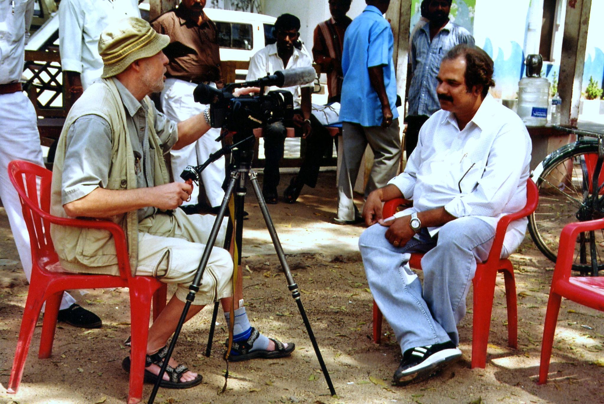 Welcome Mikel - Regisseur des Filmstudios hatte Zeit für den Besucher