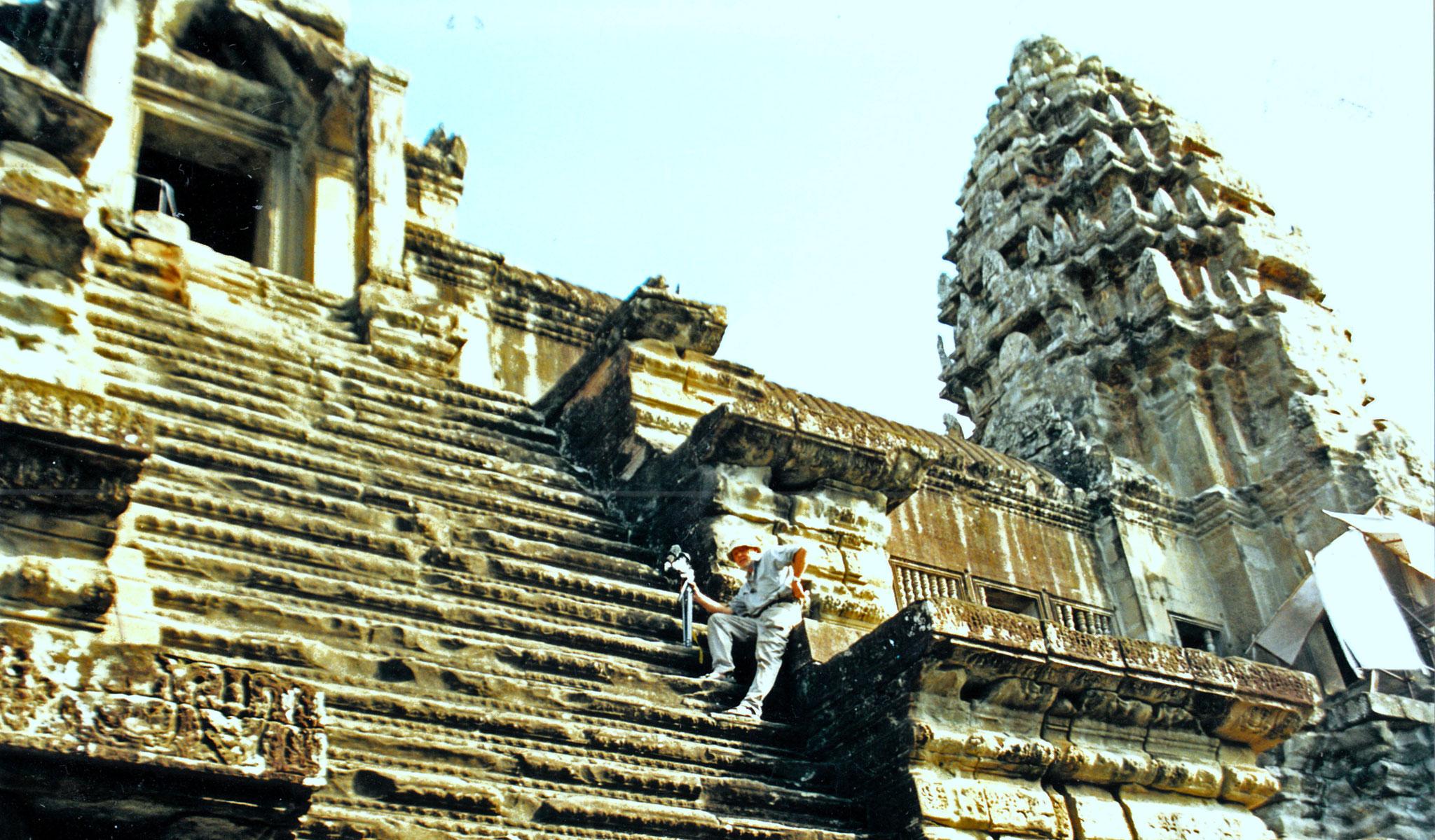 Aufgang mit Mut zur Spitze von Angkor Wat