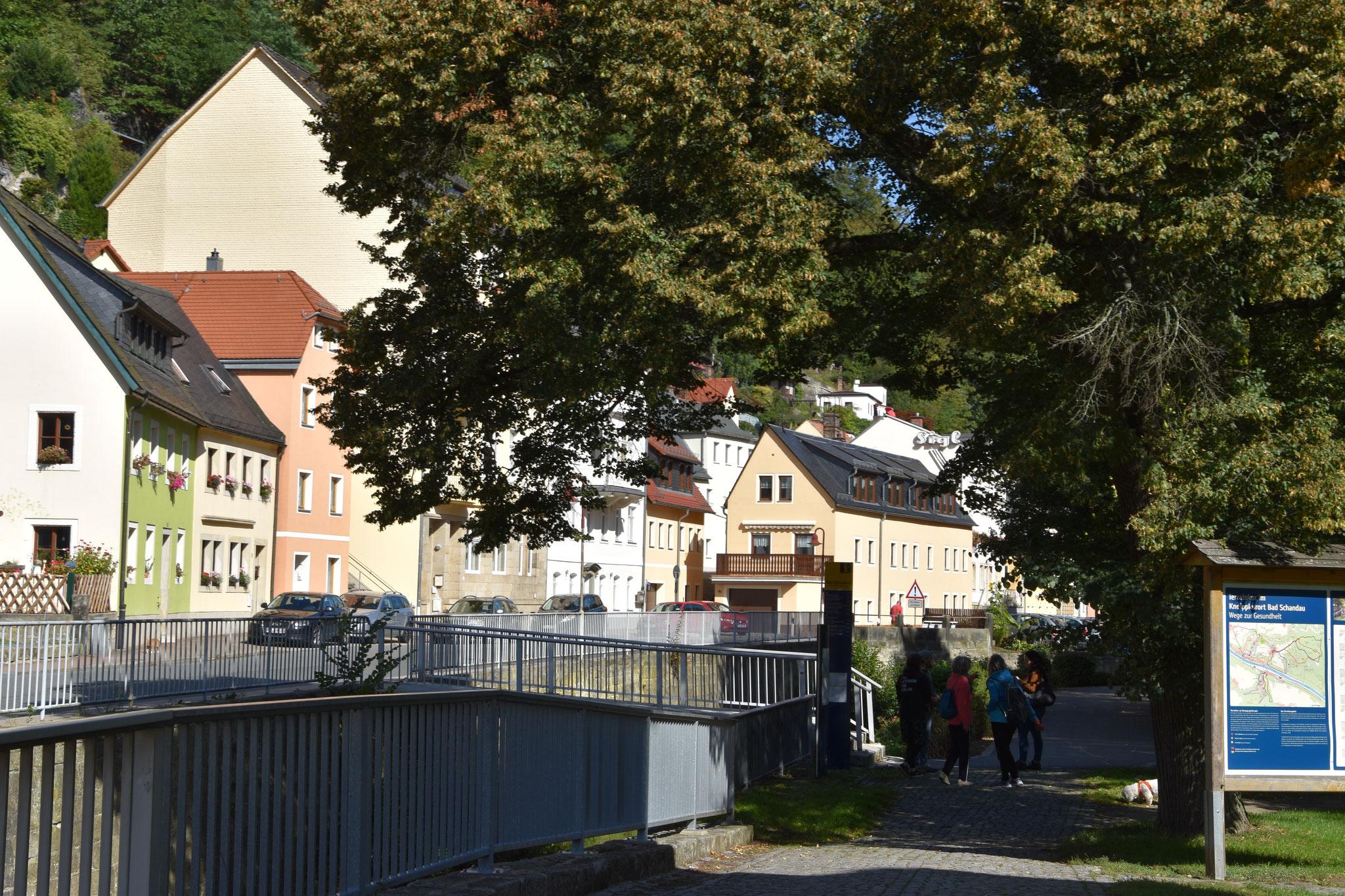 Blick zur Kirnitzschtalstraße