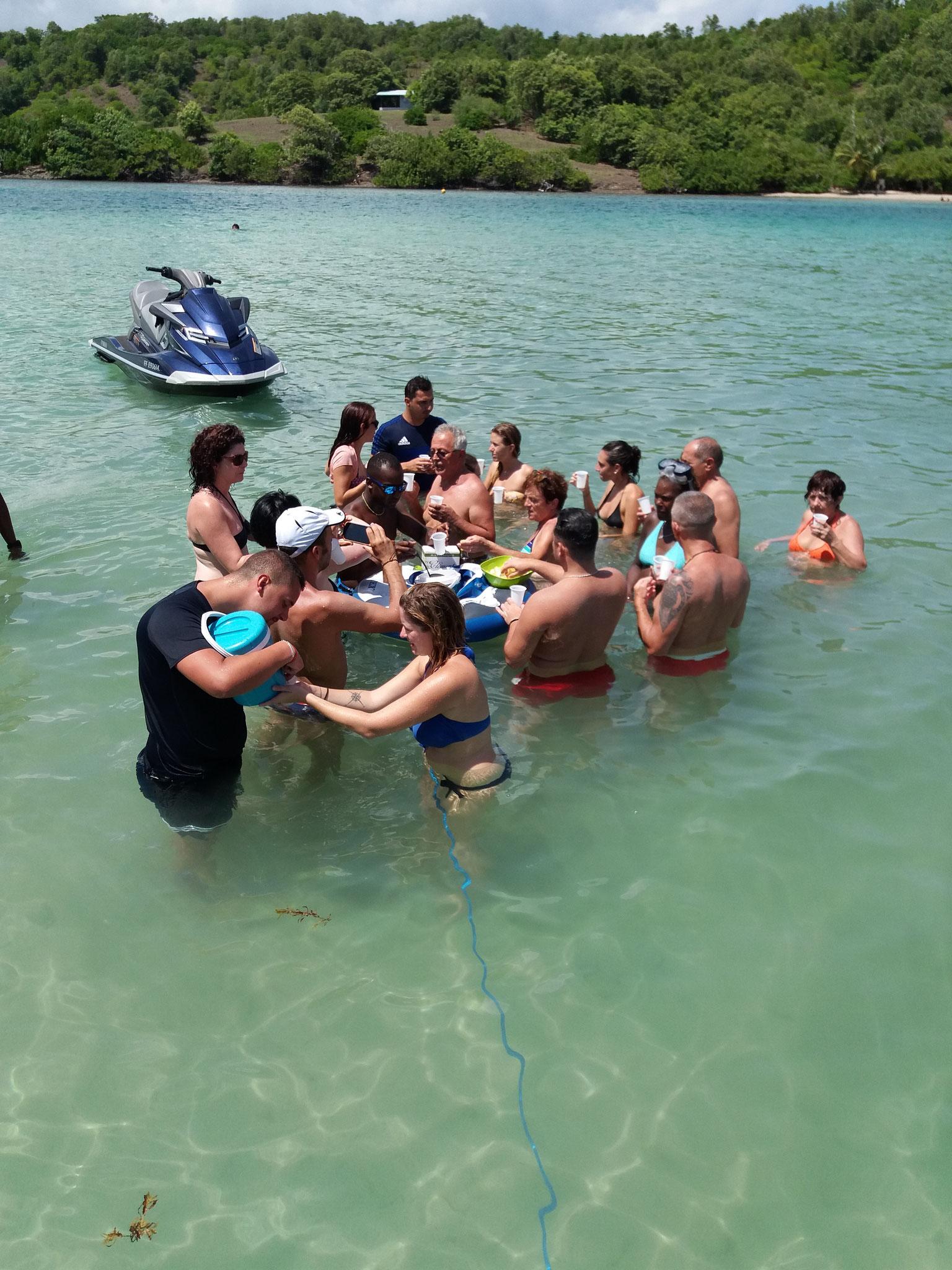 Baignoire de Joséphine Martinique - Sortie en mer avec le Capitaine Romule